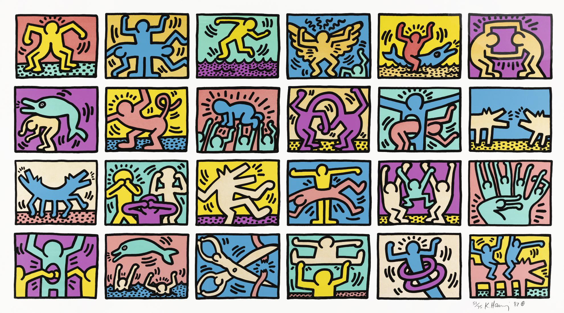 Keith Haring-Retrospect (L. Pp. 120-121)-1989