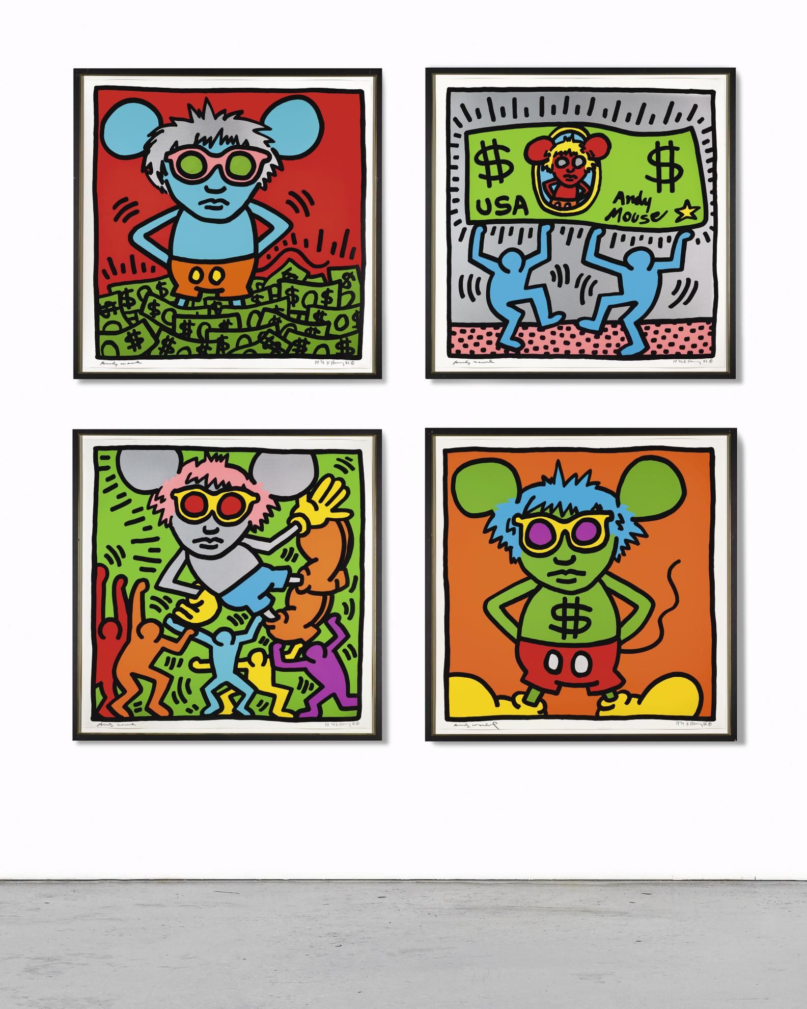 Keith Haring-Andy Mouse (L. Pp. 64-65)-1986