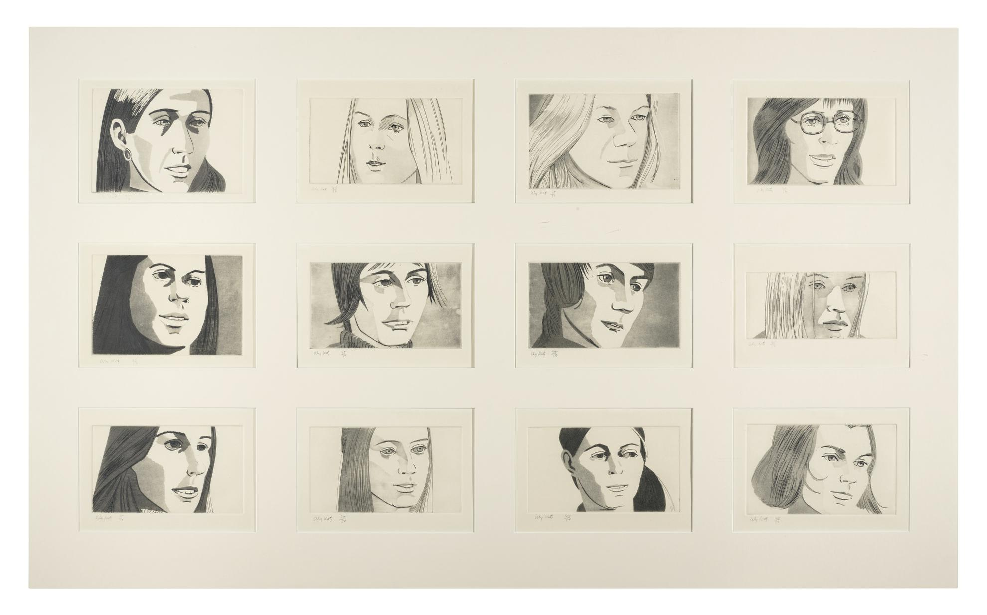 Alex Katz-June Ekmans Class (Maravell 44-55; S. 10-13)-1972