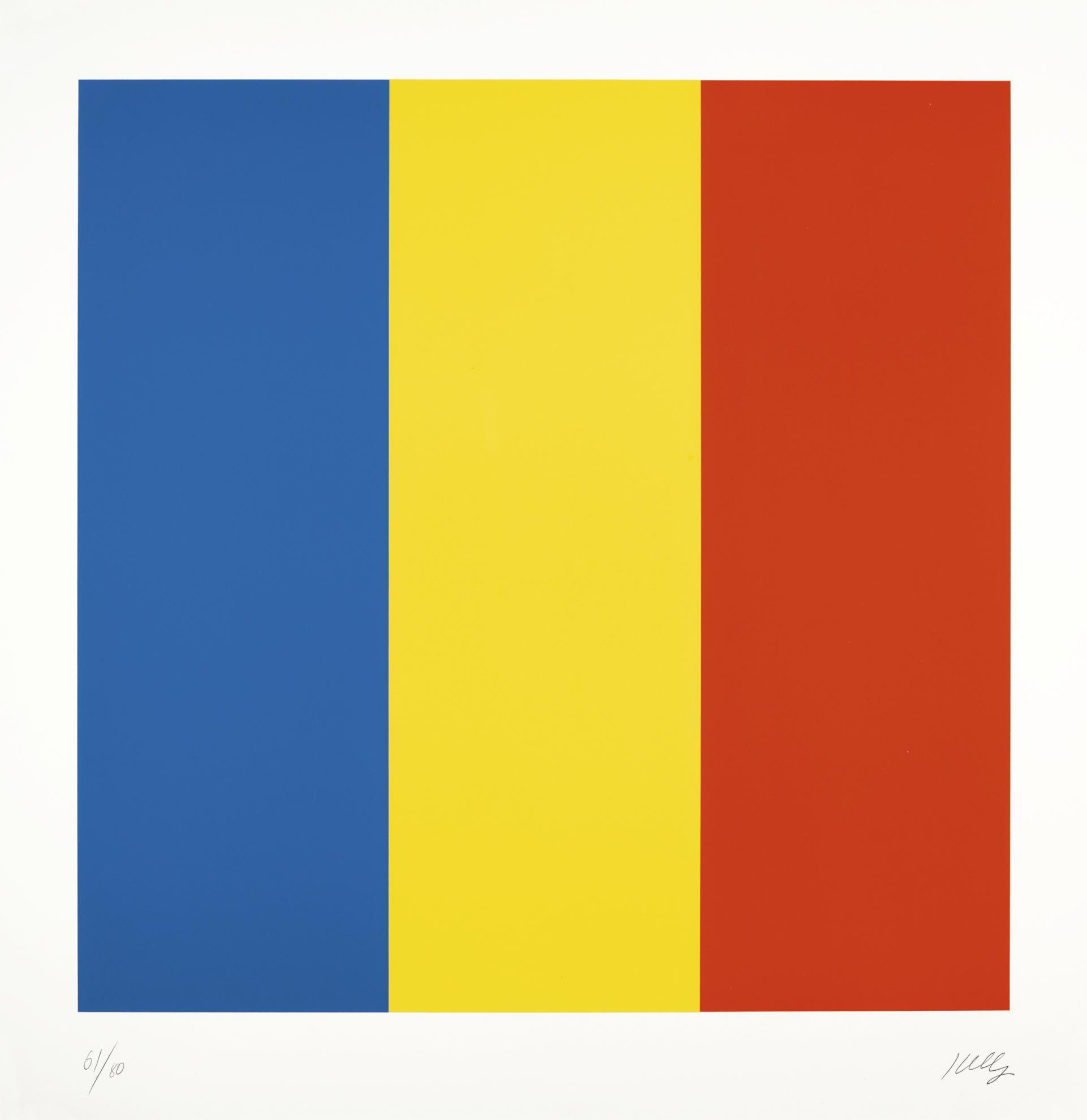 Ellsworth Kelly-Blue/ Yellow/ Red-1992