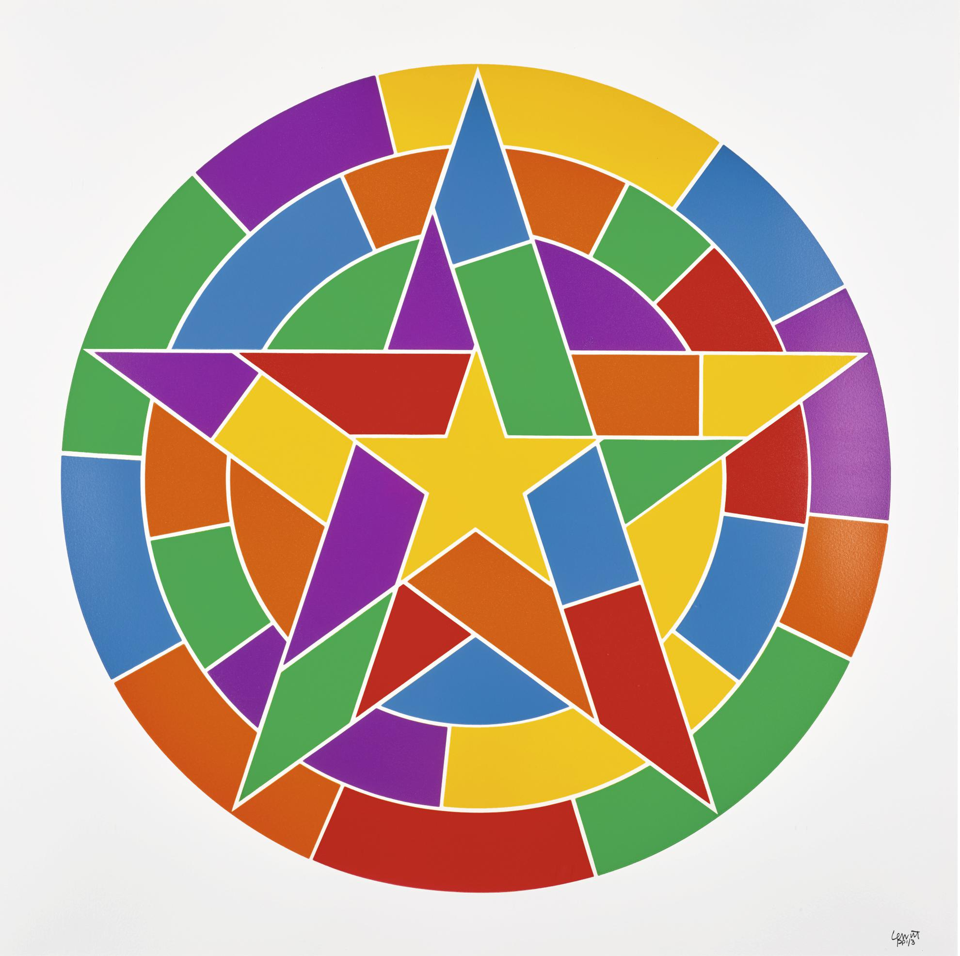 Sol LeWitt-Tondo Stars 1-6-2002