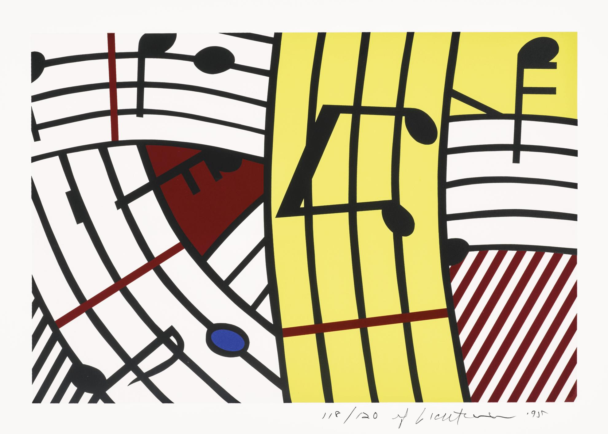 Roy Lichtenstein-Composition IV (C. 293)-1995