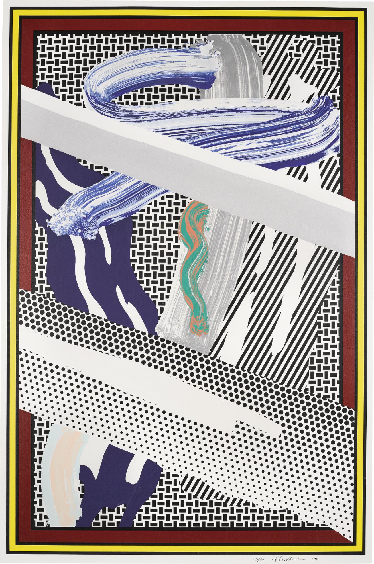 Roy Lichtenstein-Reflections On Expressionist Painting (C. 255)-1990