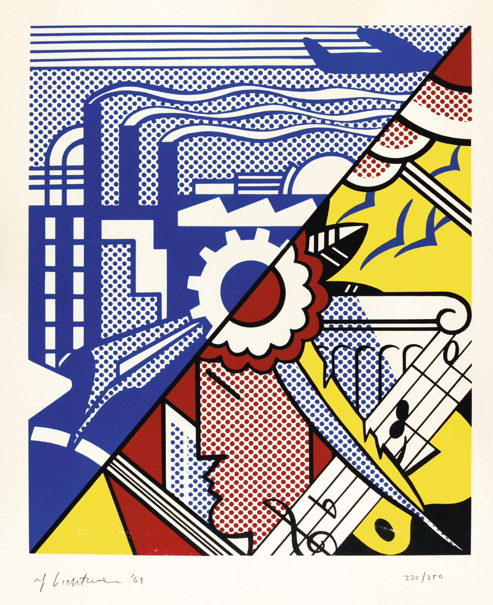 Roy Lichtenstein-Industry And The Arts (II) (C. 86)-1969