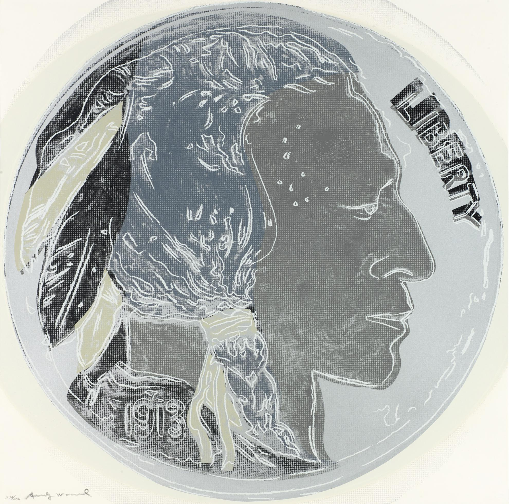 Andy Warhol-Indian Head Nickel (F. & S. II.385)-1986