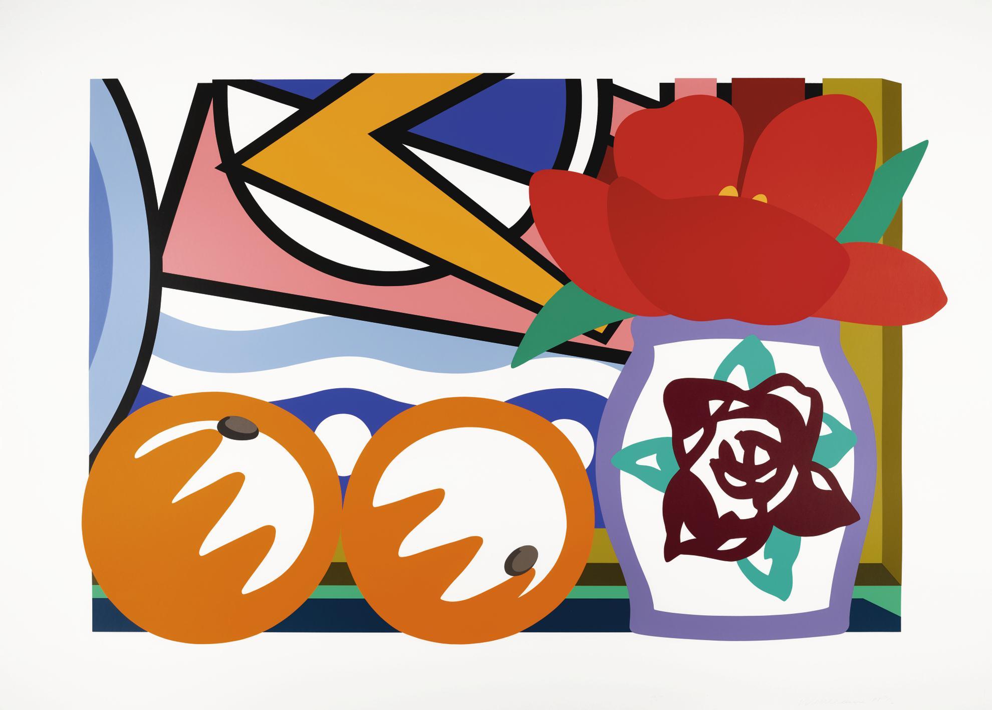 Tom Wesselmann-Still Life With Lichtenstein And Two Oranges-1993