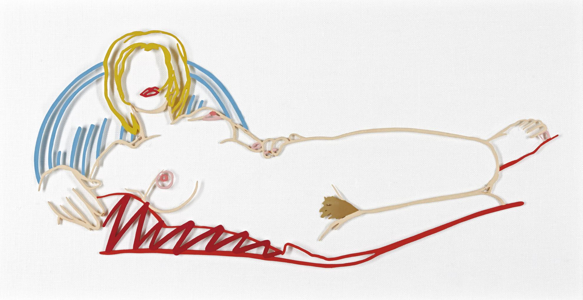 Tom Wesselmann-Monica Reclining On Blanket And Pillow-1990