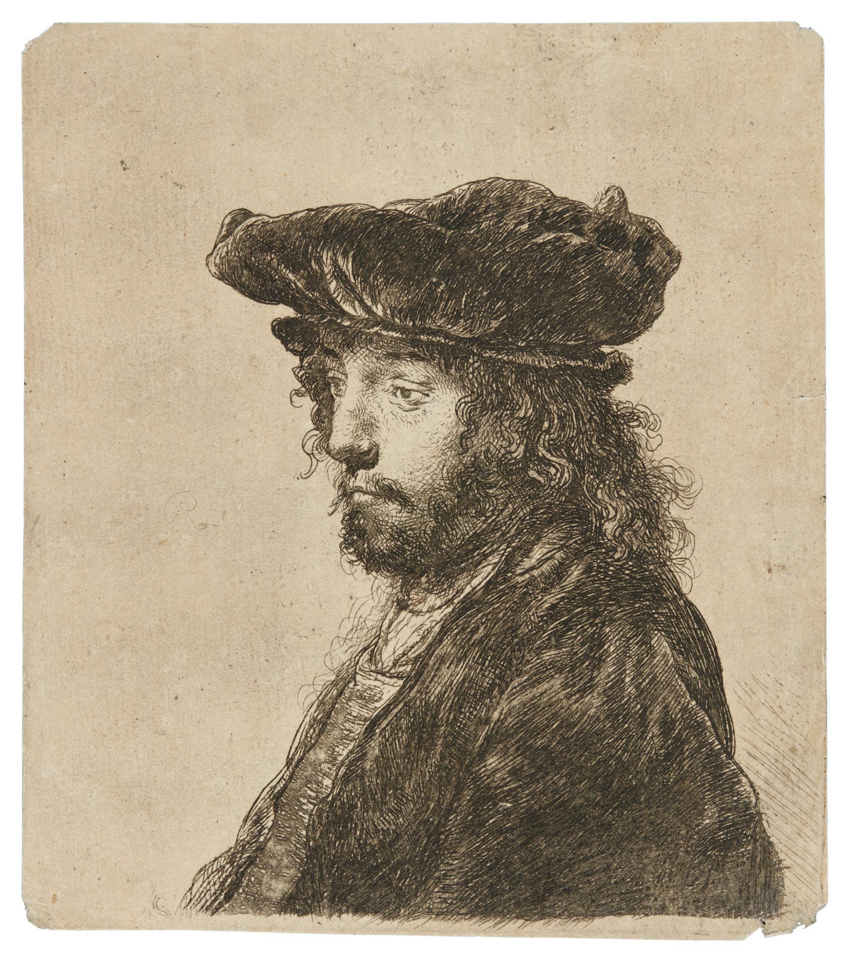 Rembrandt van Rijn-The Fourth Oriental Head (B., Holl. 289; New Holl. 152; H. 134)-1635