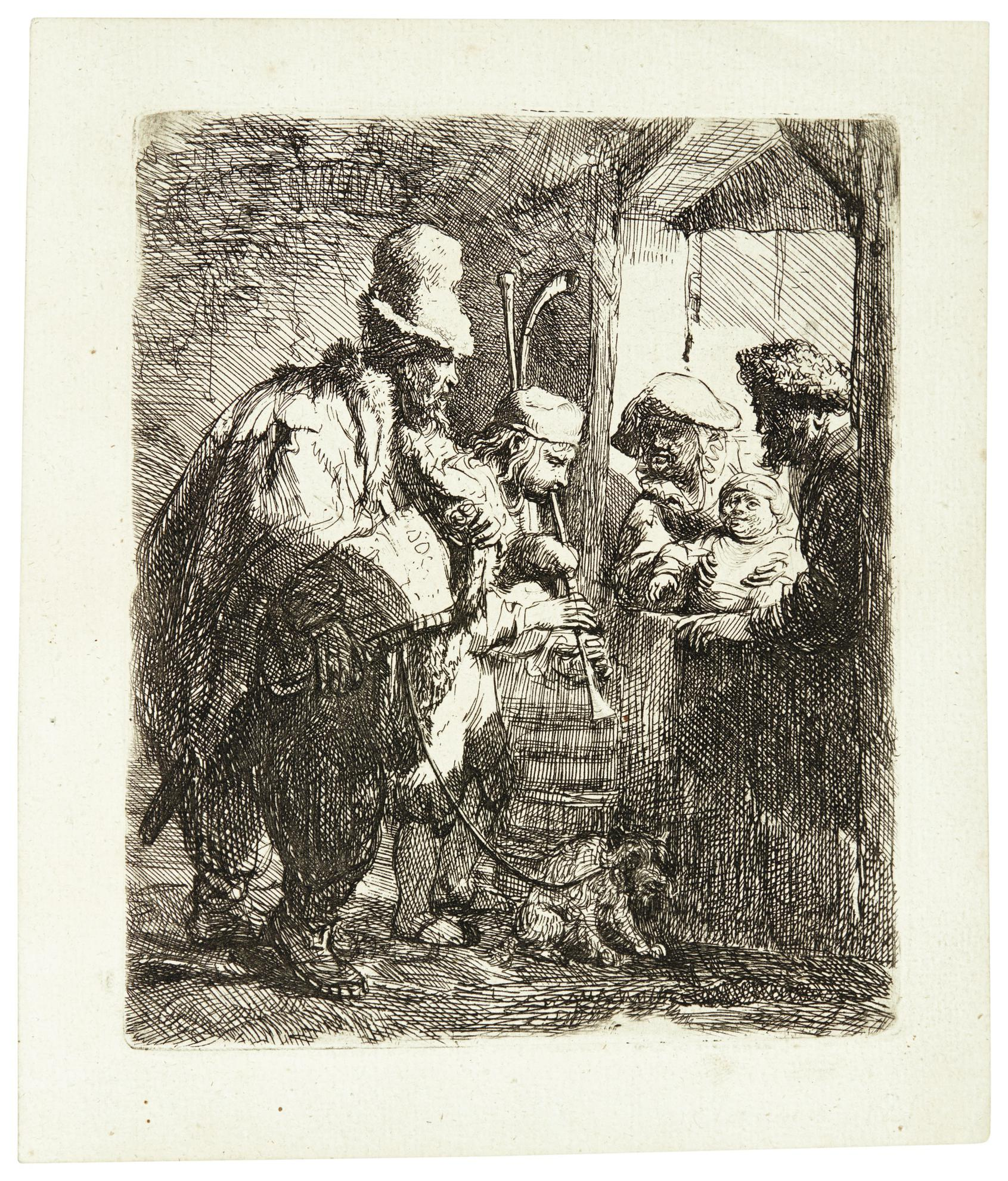 Rembrandt van Rijn-The Strolling Musicians (B., Holl. 119; New Holl. 141; H. 142)-1635