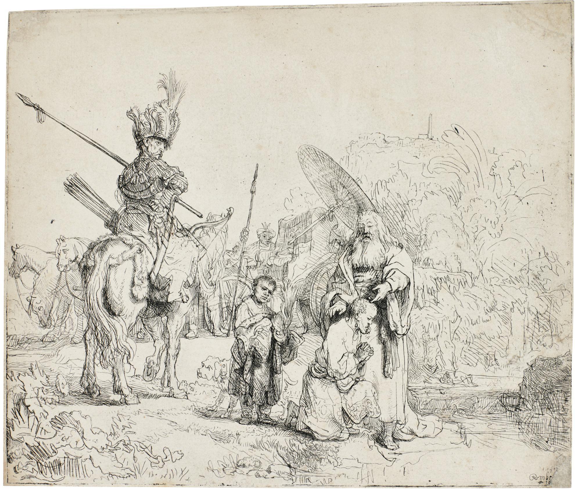Rembrandt van Rijn-The Baptism Of The Eunuch (B., Holl. 98; New Holl. 186; H. 182)-1641
