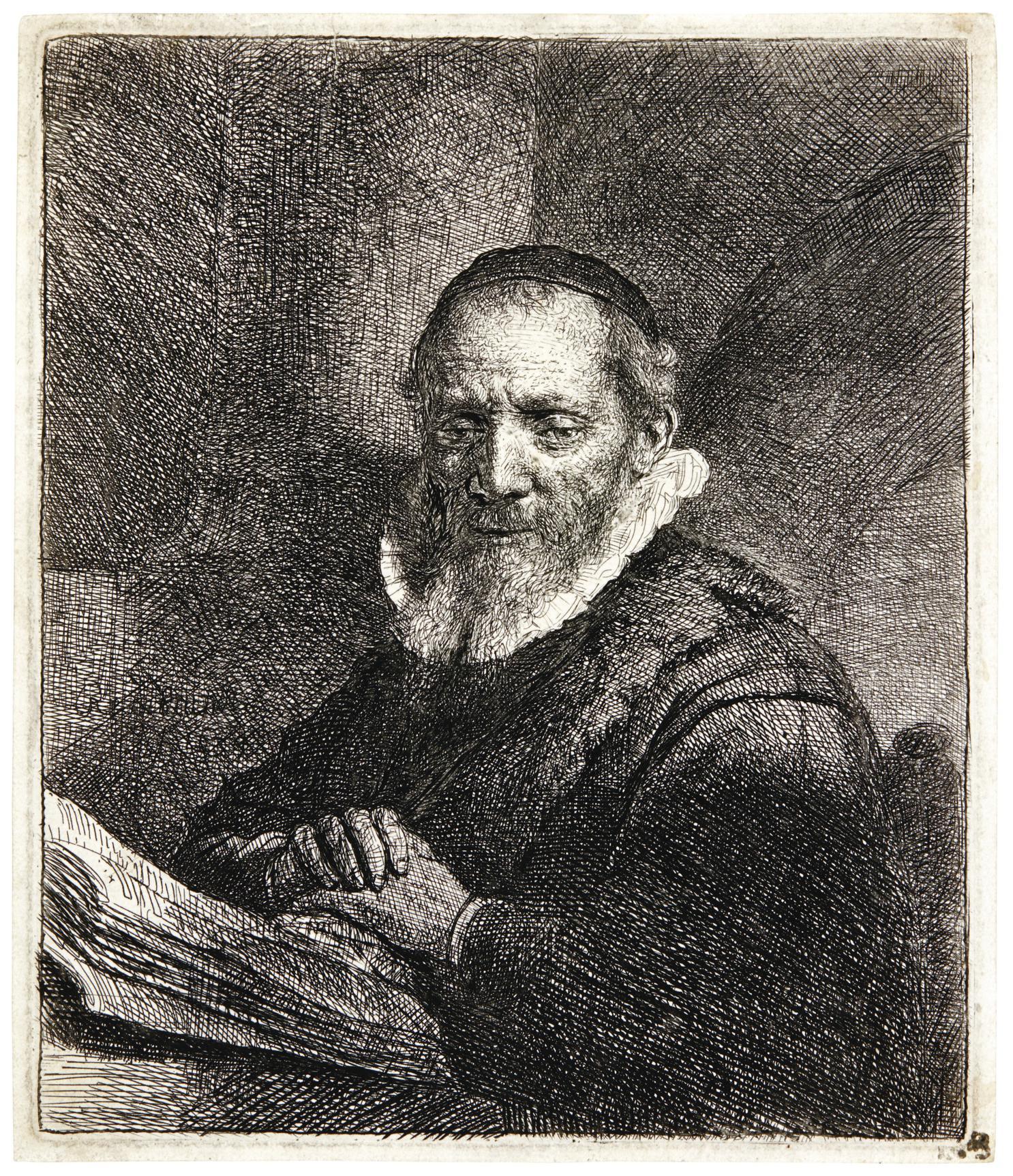 Rembrandt van Rijn-Jan Cornelis Sylvius (B., Holl. 266; New Holl. 124; H. 111)-1633
