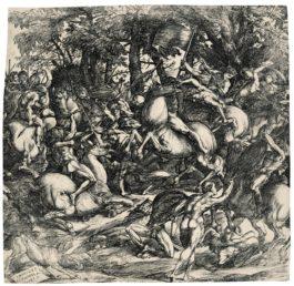 Domenico Campagnola-Battle Of Nude Men (Bartsch 10; Hind 4)-1517