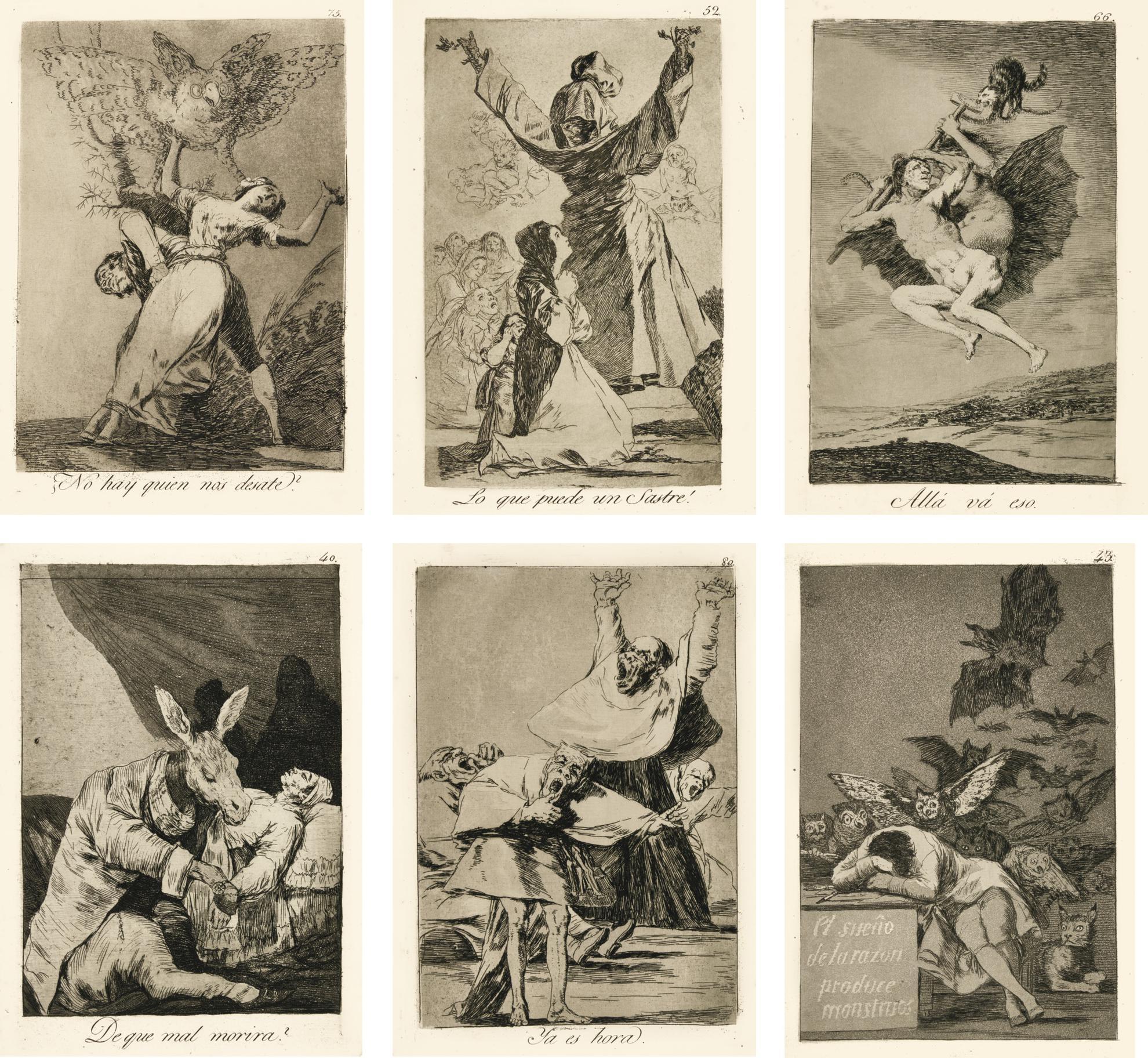 Francisco Jose de Goya y Lucientes - Los Caprichos (Delteil 39-117; Harris 36-115)-1878