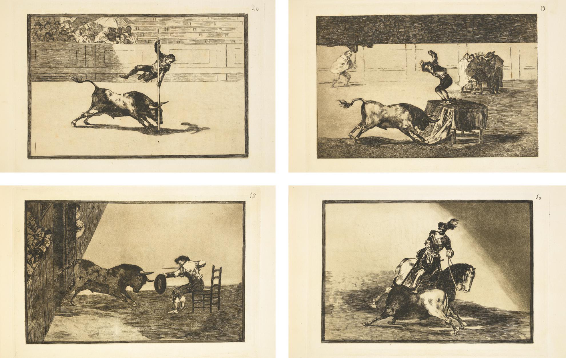 Francisco Jose de Goya y Lucientes - Tauromaquia (40 Works) (D. 224-263; H. 204-243)-1816