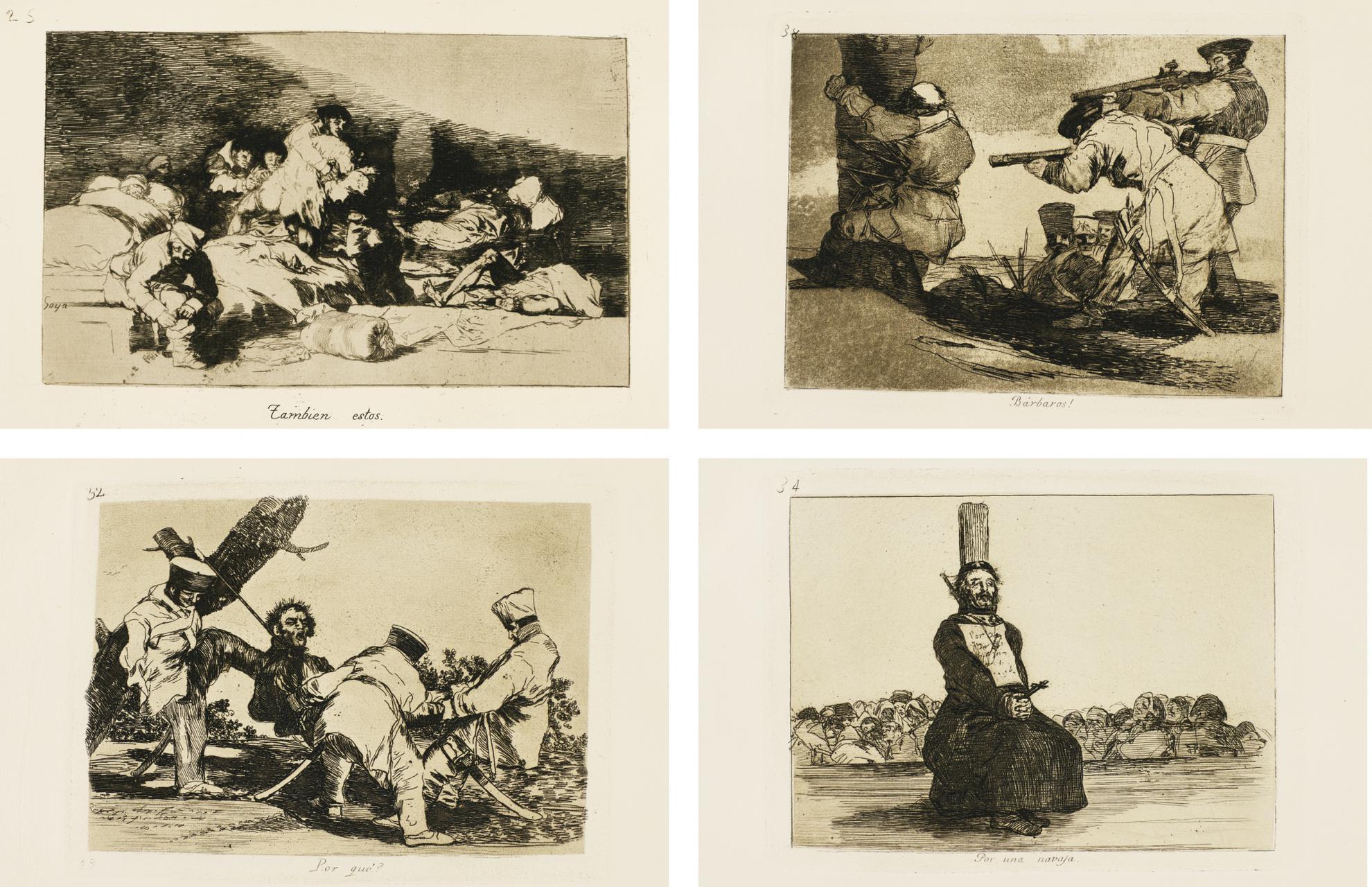 Francisco Jose de Goya y Lucientes - Los Desastres De La Guerra (D. 120-199; H. 121-200)-1820