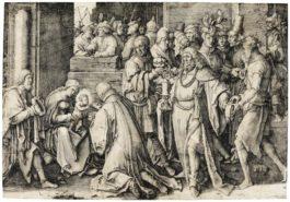 Lucas Van Leyden-Adoration Of The Magi (Bartsch 37)-1513