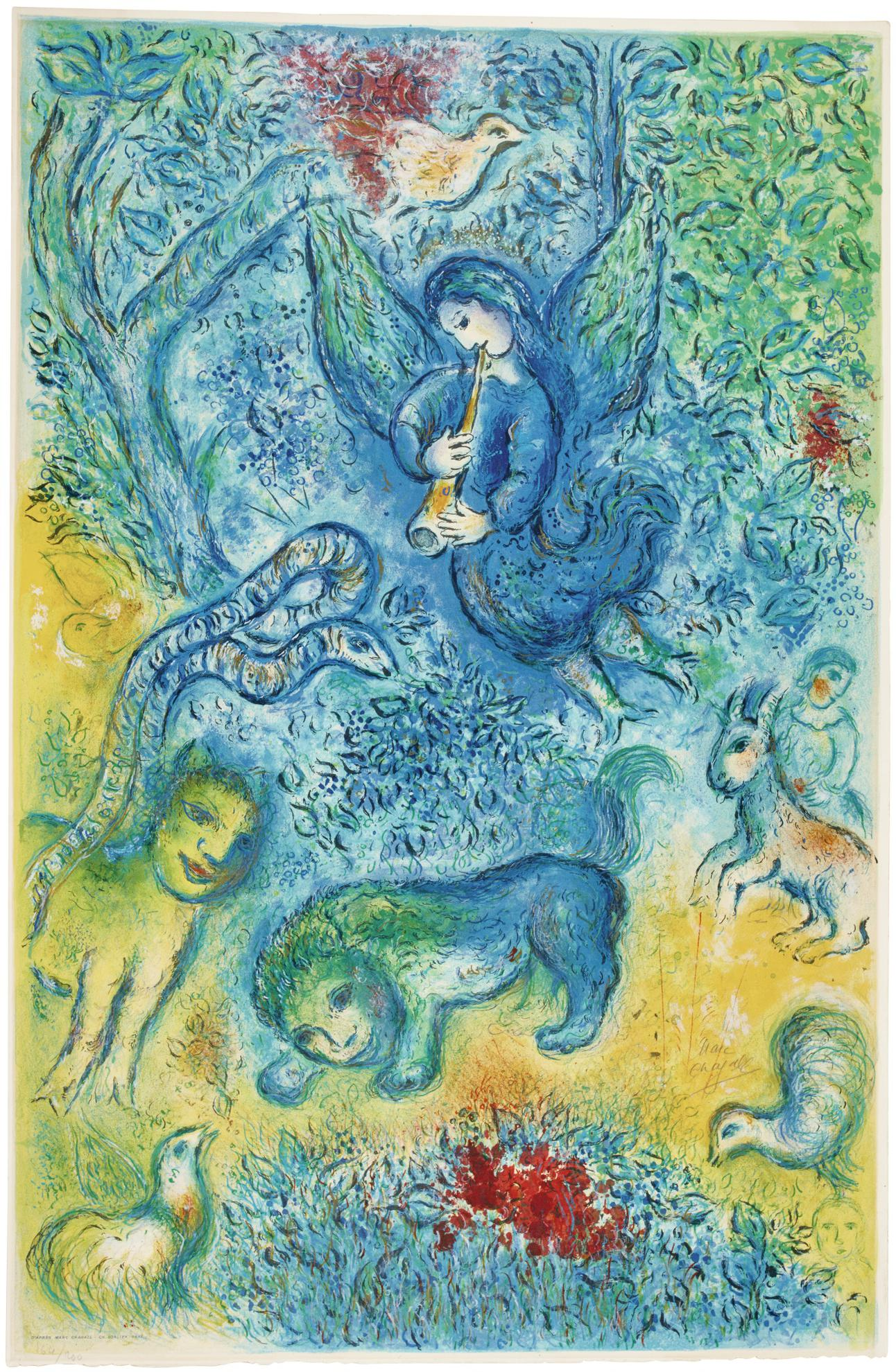 After Marc Chagall - La Flute Enchantee (M. Cs 38)-1967