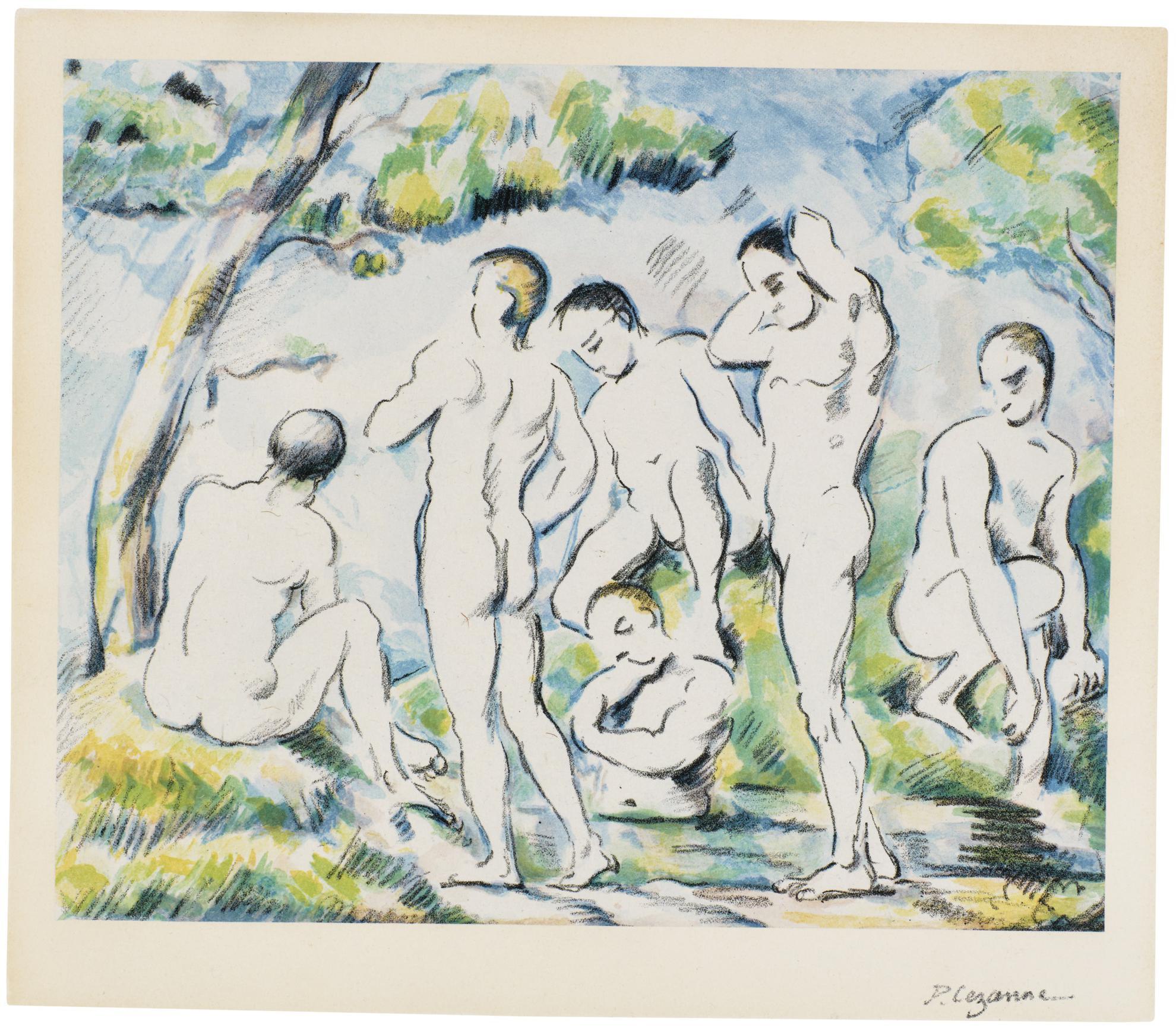 Paul Cezanne-Les Baigneurs (Petite Planche) (D. III; V. 1156)-1897