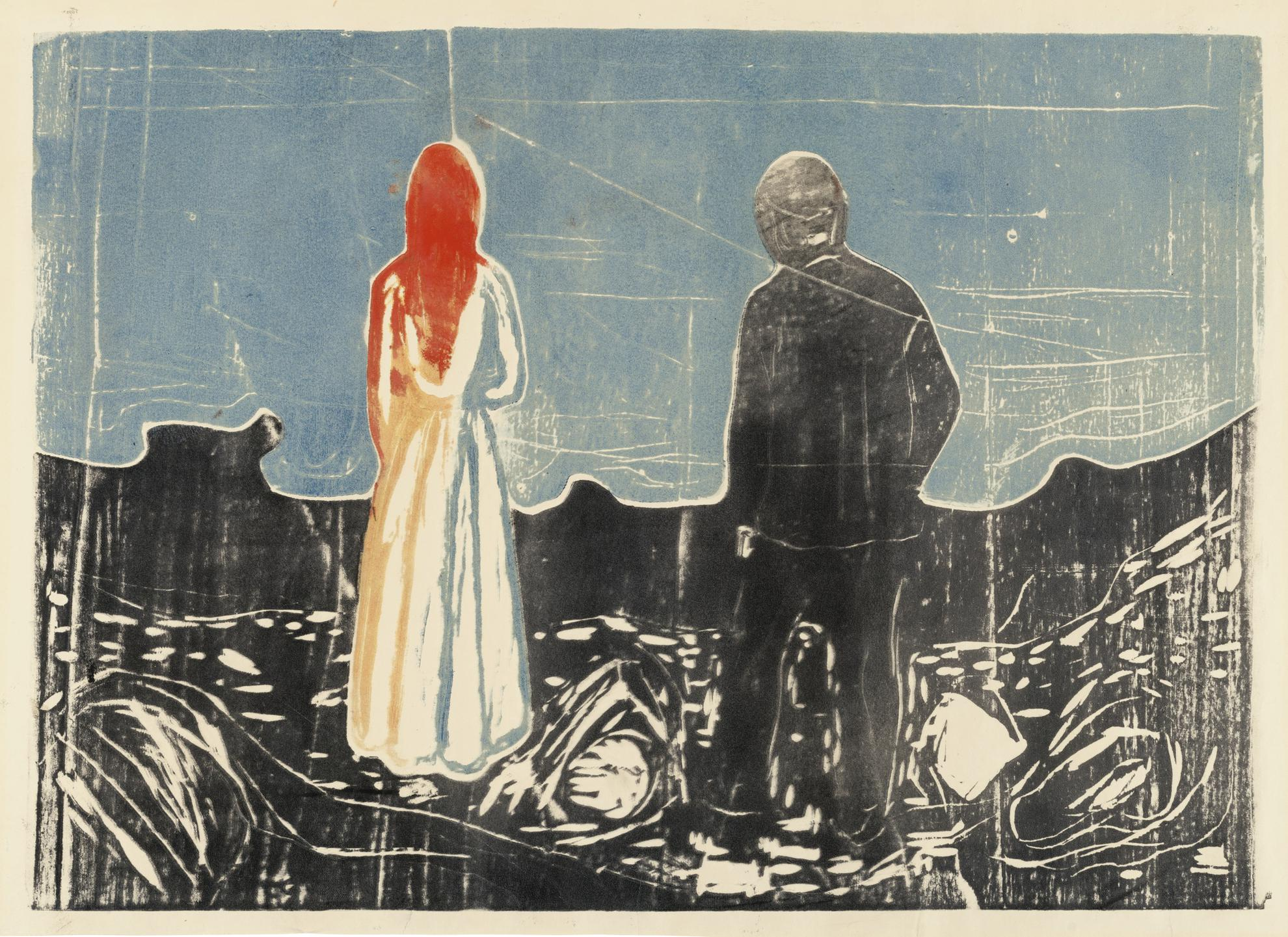 Edvard Munch-The Two Human Beings. The Lonely Ones (Woll 157; Schiefler 133)-1899