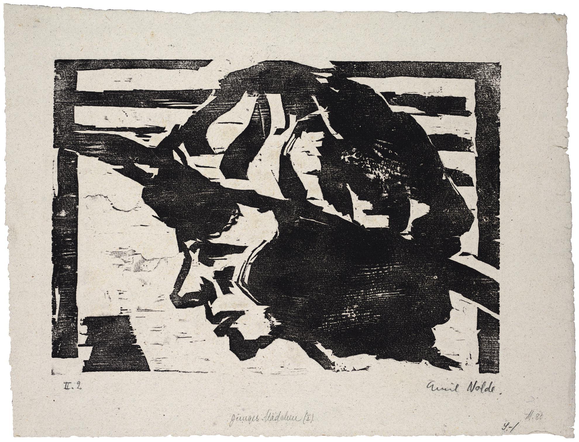 Emil Nolde-Junges Madchen I (Sch./M. H106)-1912
