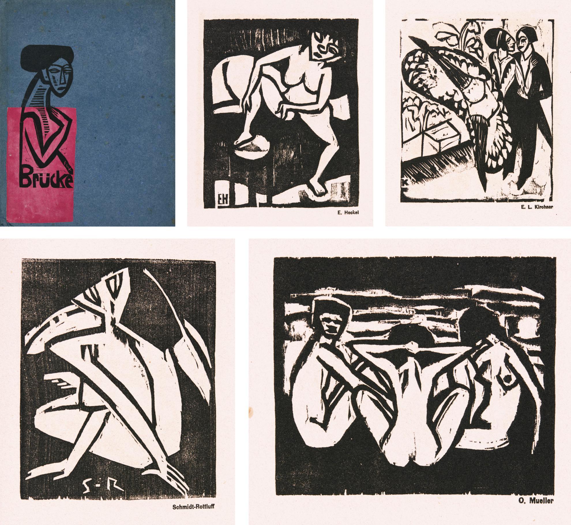 Kg Brucke - Ausstellung Der Kunstlergruppe Brucke Galerie Commeter, Hamburg (Kirchner Dube H727-730; Heckel Dube H226-228; Mueller Karsch 4; Schmidt-Rottluff Schapire 76, 97-98)-1912