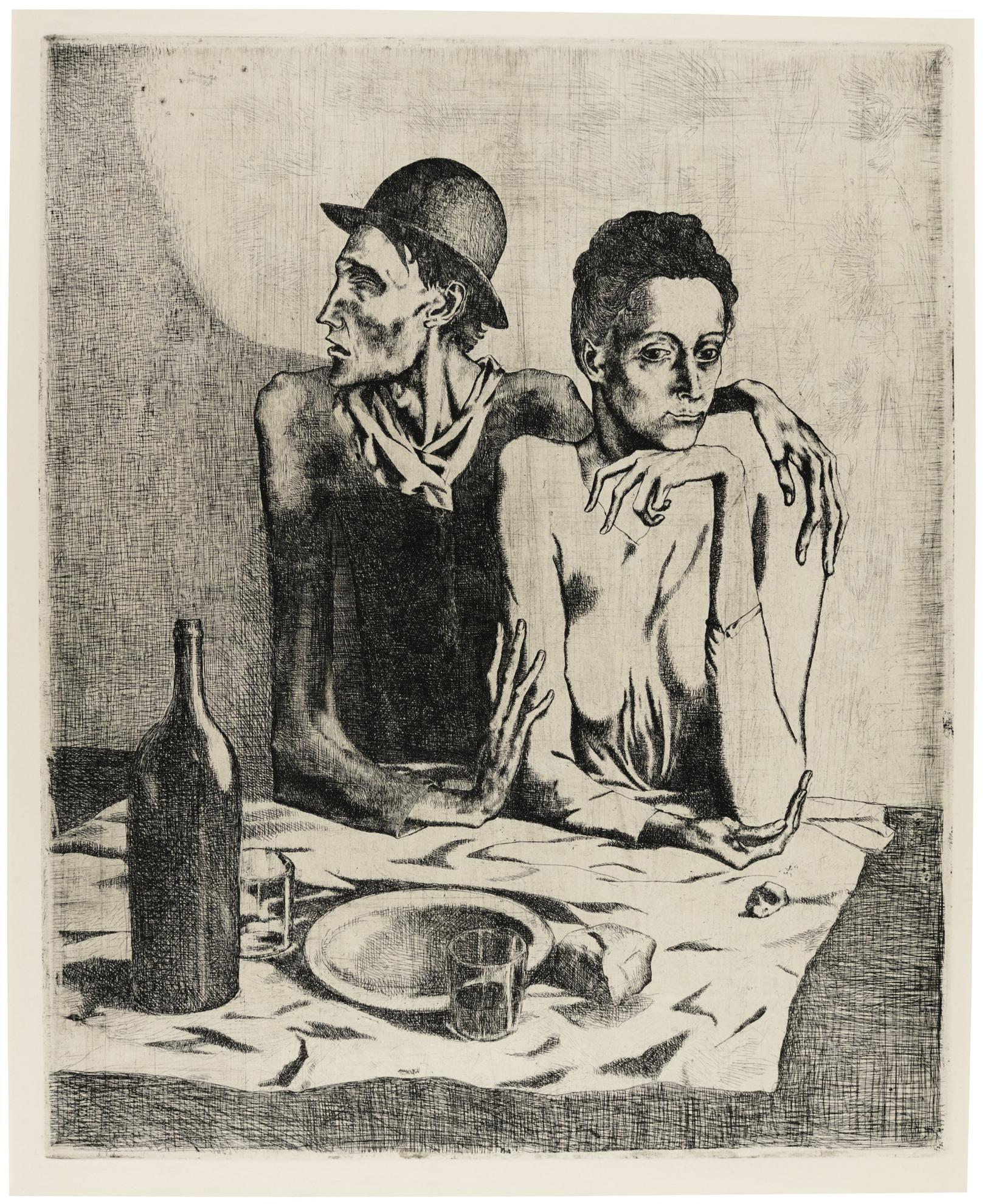 Pablo Picasso-Le Repas Frugal (Bloch 1; Baer 2)-1904