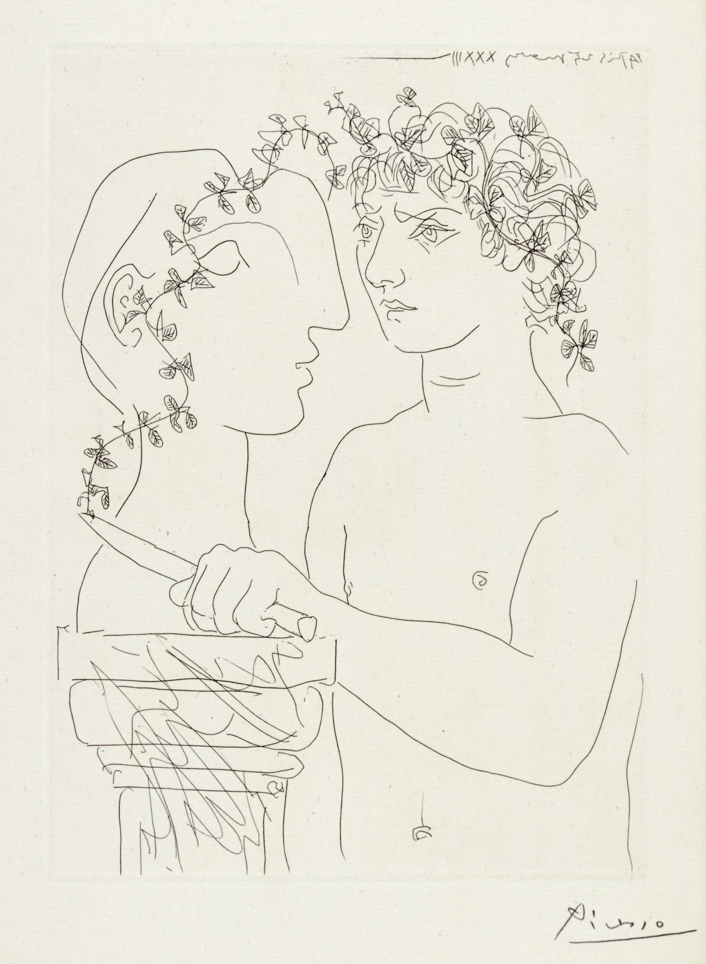 Pablo Picasso-Jeune Sculpteur Au Travail (B. 156; Ba. 309)-1933