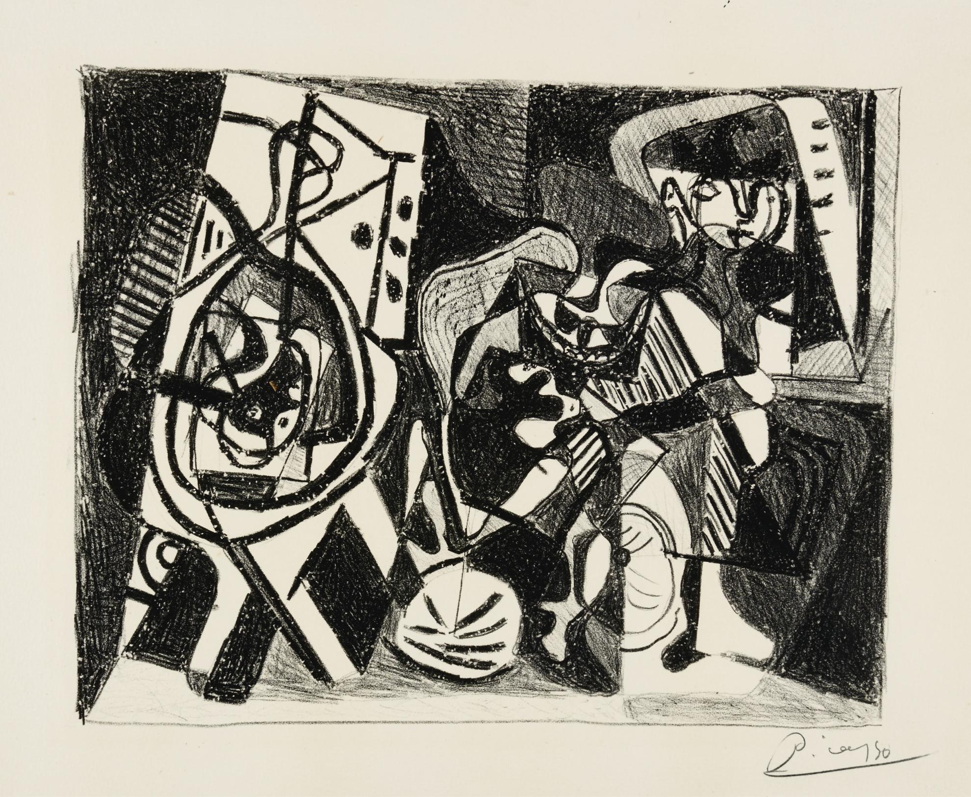 Pablo Picasso-Scene Dinterieur (B. 74; Ba. 241; M. XXI)-1926