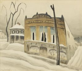 Charles Ephraim Burchfield - The Corner Store (Corner Store In Winter)-1918