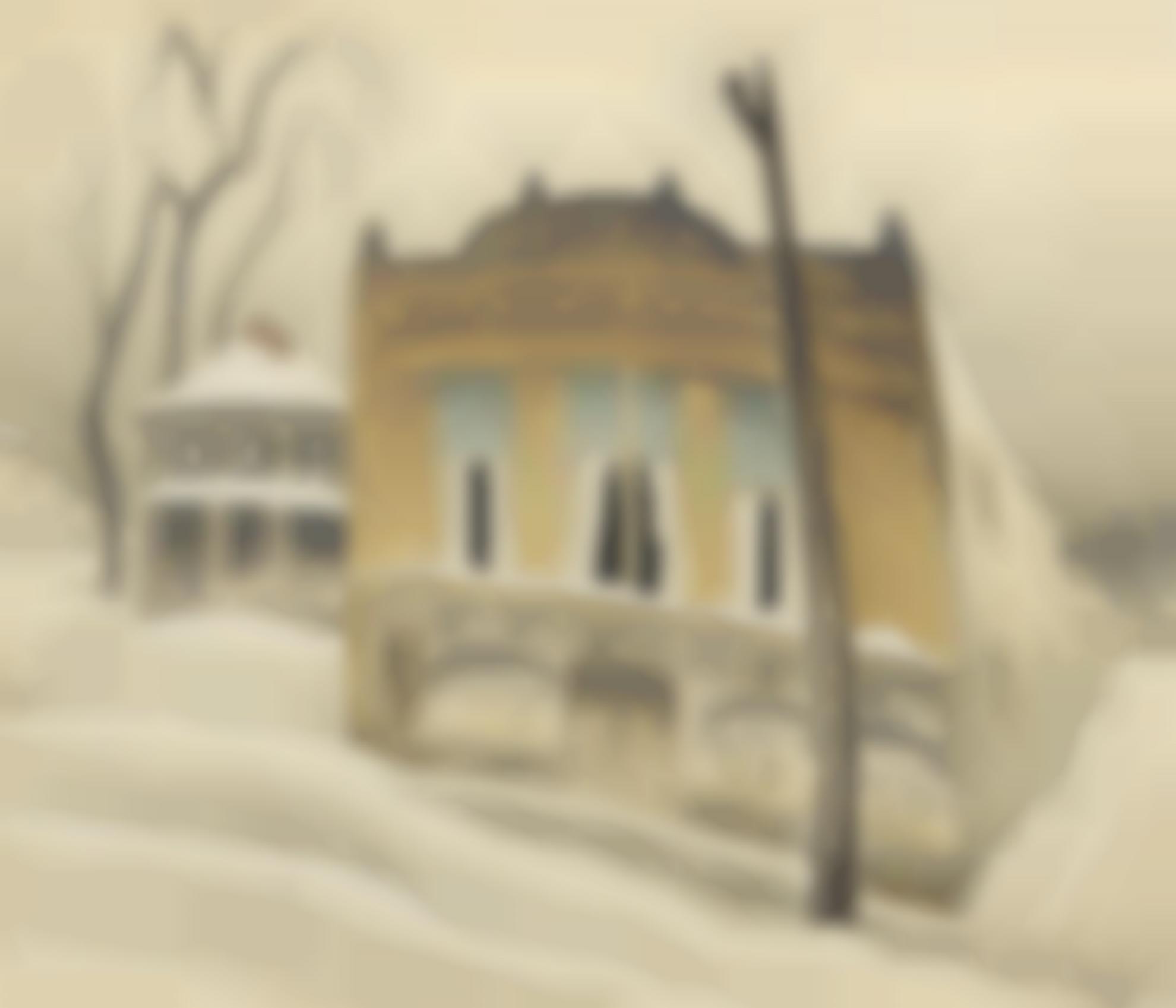 Charles Ephraim Burchfield - The Corner Store (Corner Store In Winter)-1918