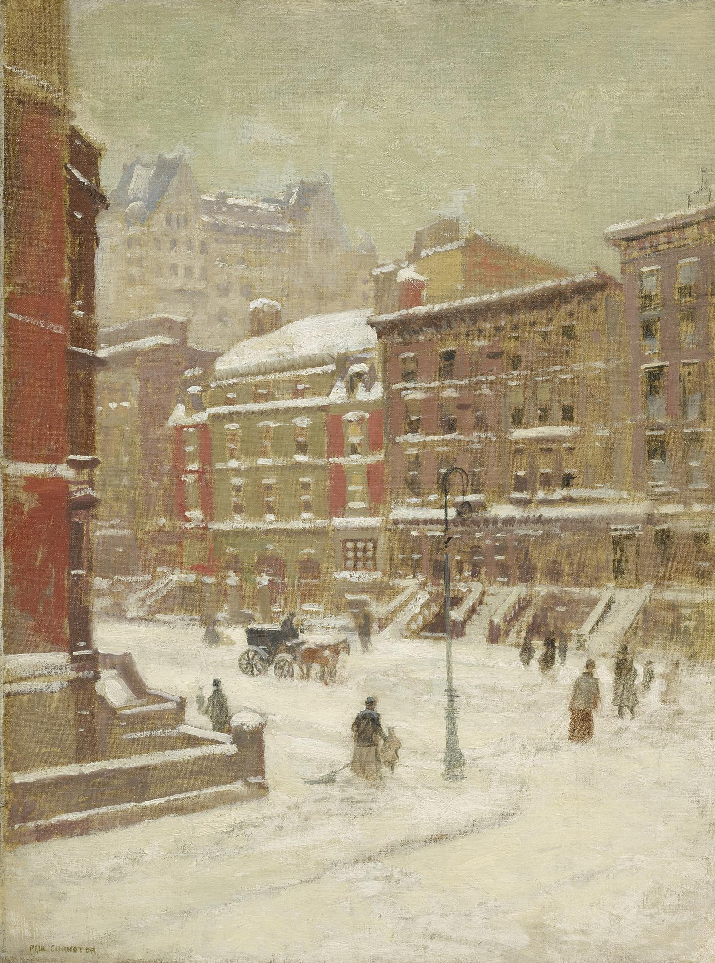Paul Cornoyer - New York City Scene-