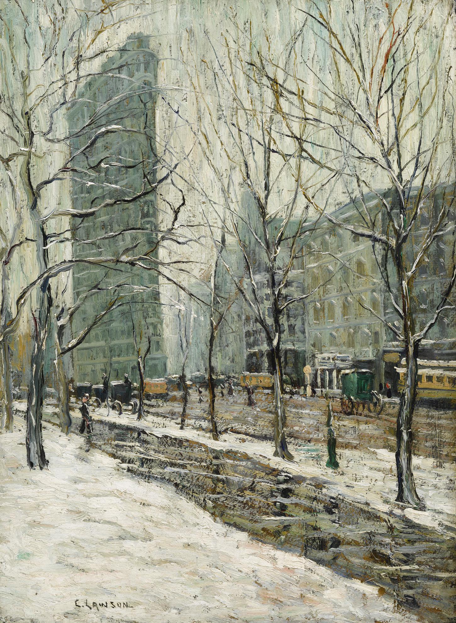 Ernest Lawson - The Flatiron Building-1907
