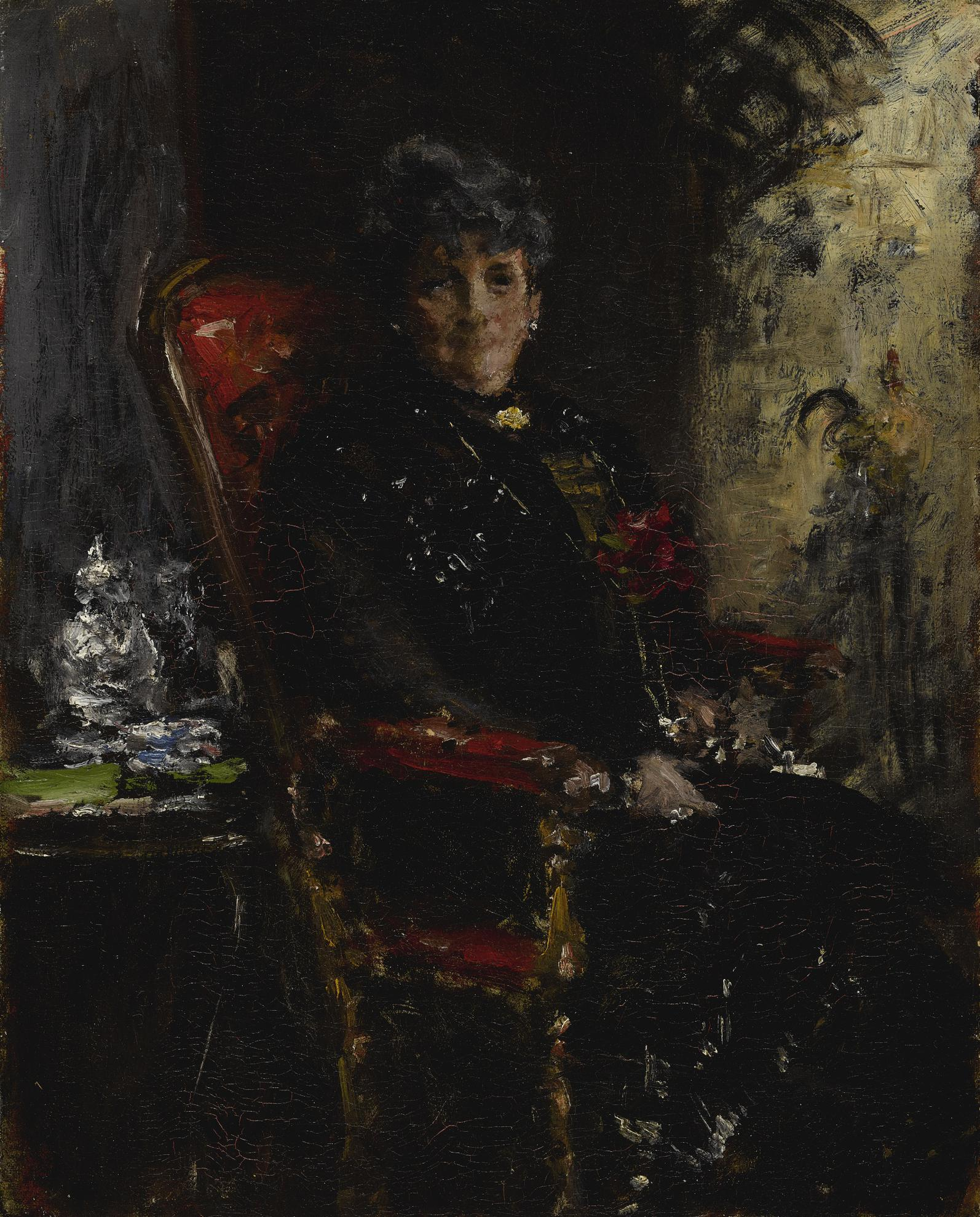 William Merritt Chase-Lady At The Window (Portrait Study Of Mme E. H. Bensel)-1912