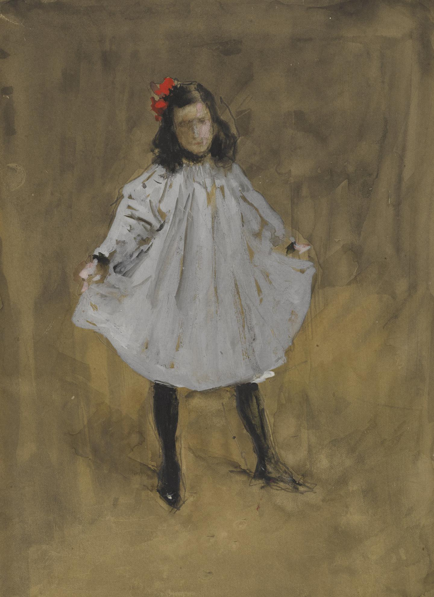 William Merritt Chase-The Curtsy-