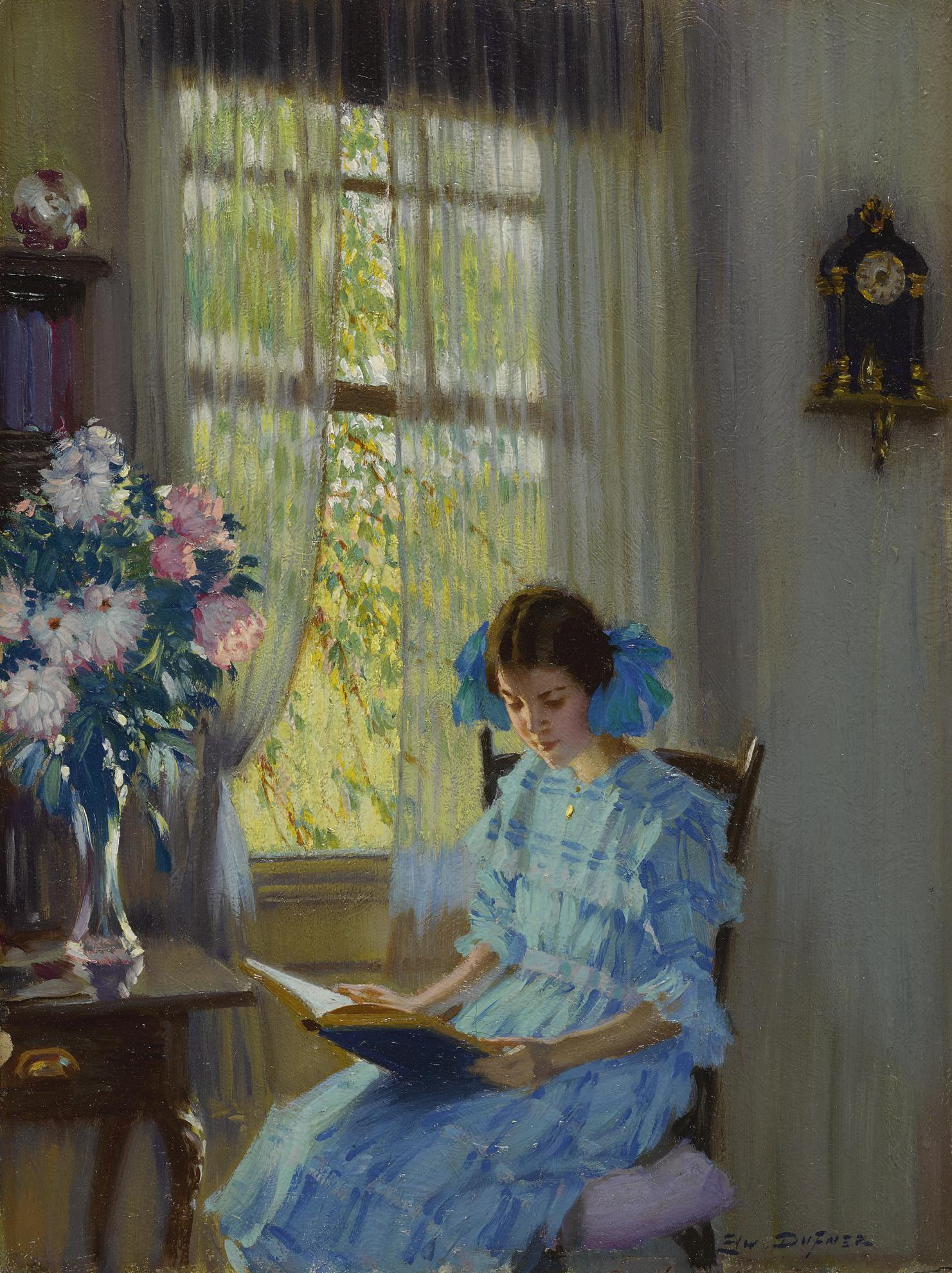 Edward Dufner - Margaret By The Window-1915