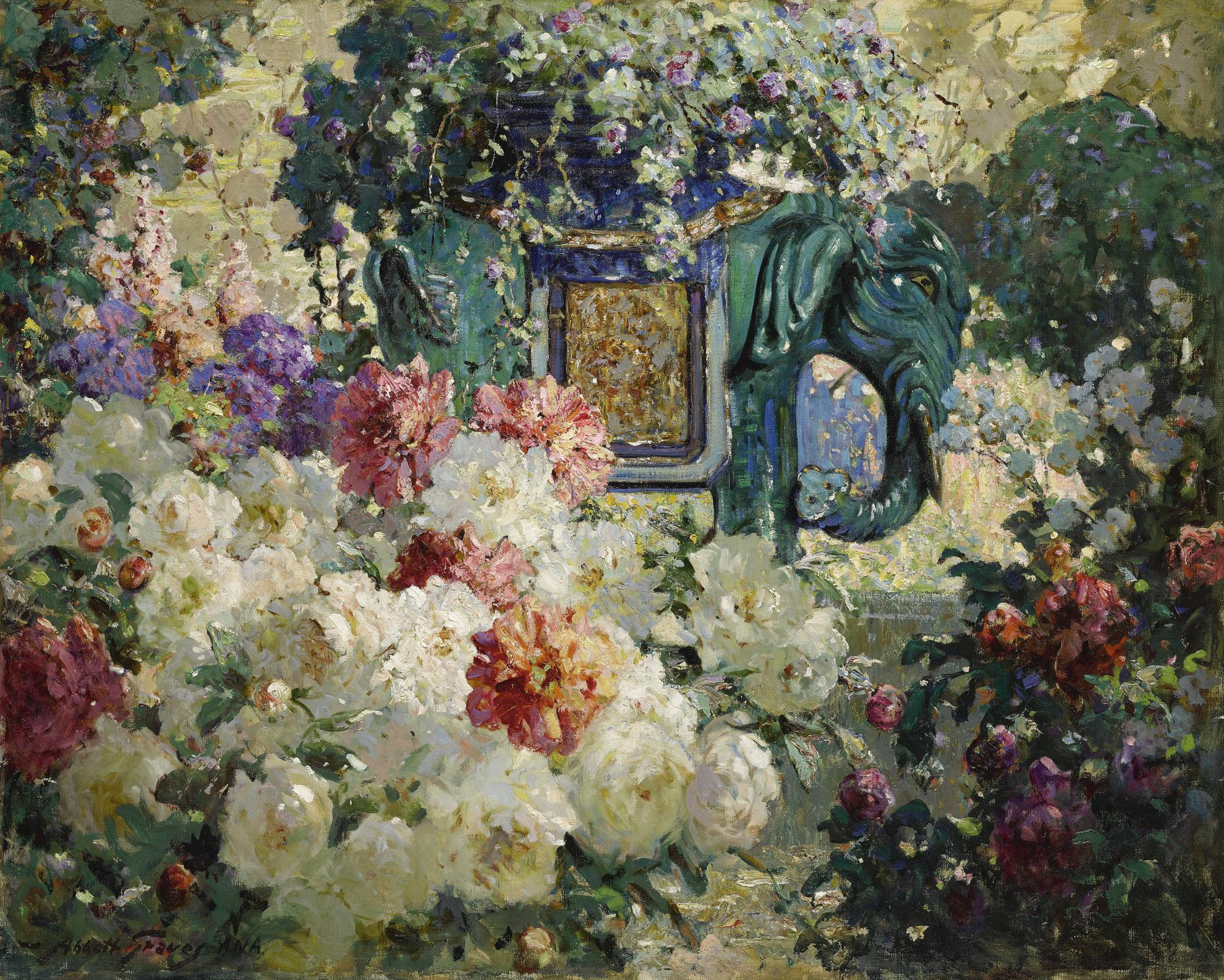 Abbott Fuller Graves - In My Wifes Garden-1930