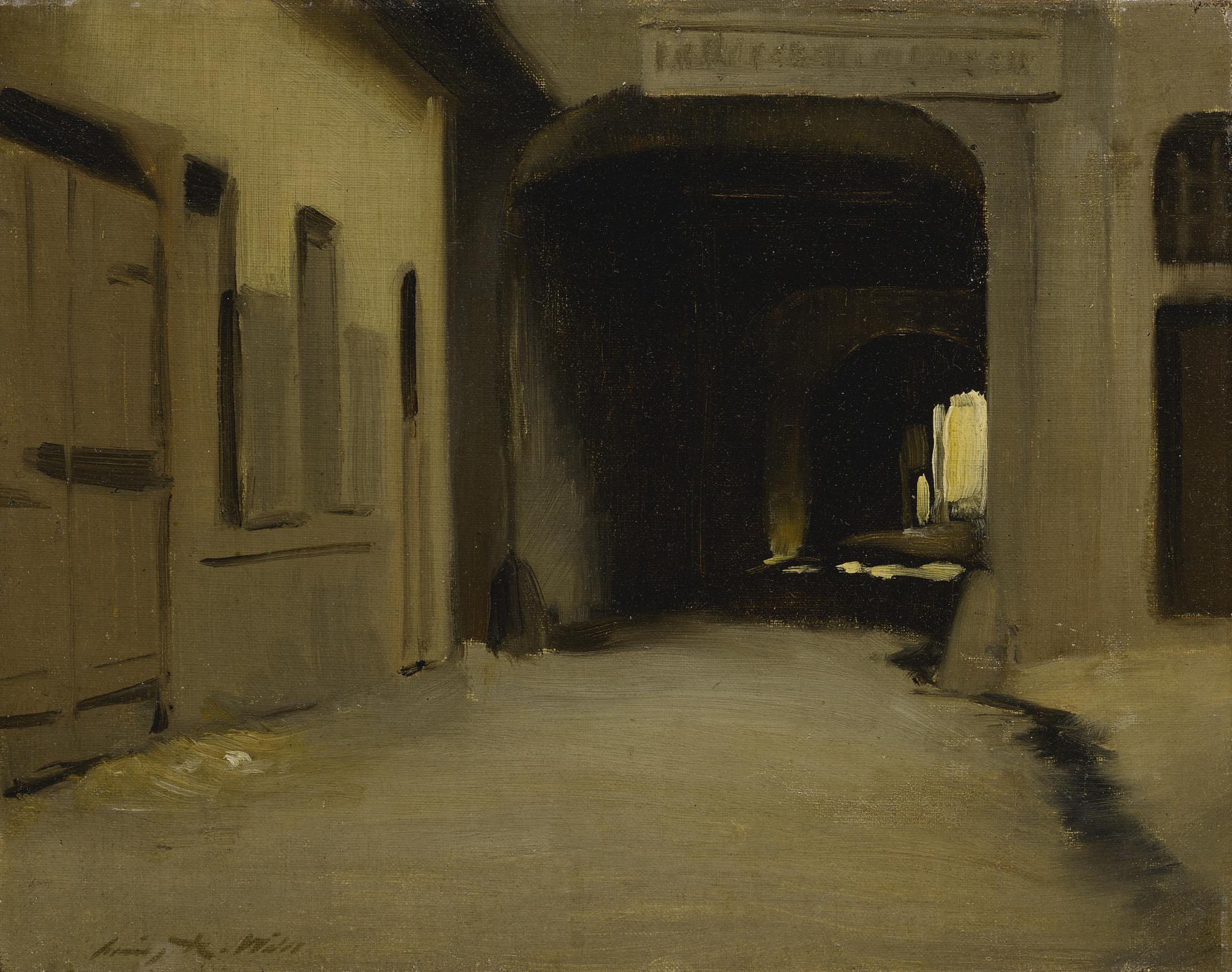 Irving Ramsey Wiles - The Arcade-1910