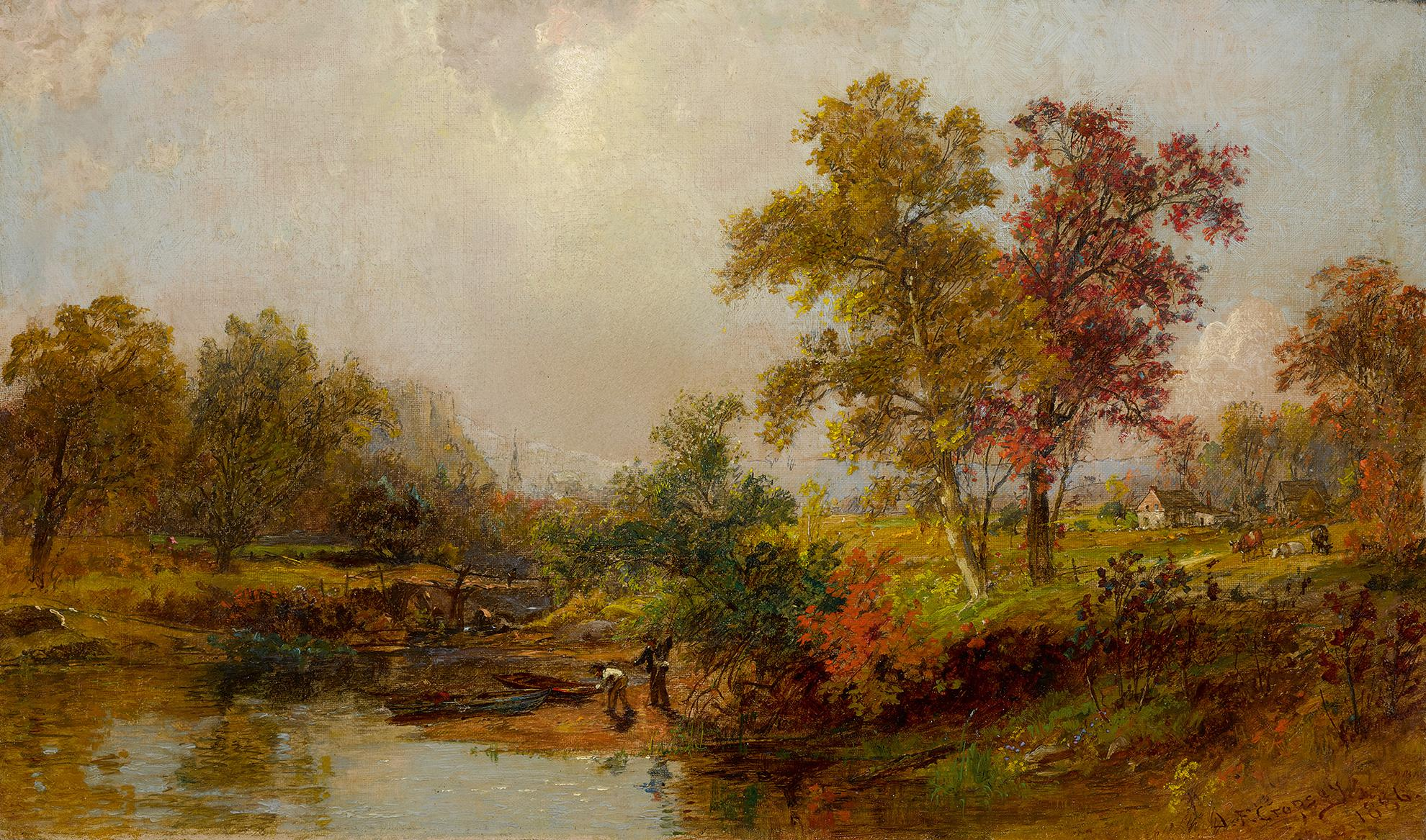Jasper Francis Cropsey - An October Day-1886