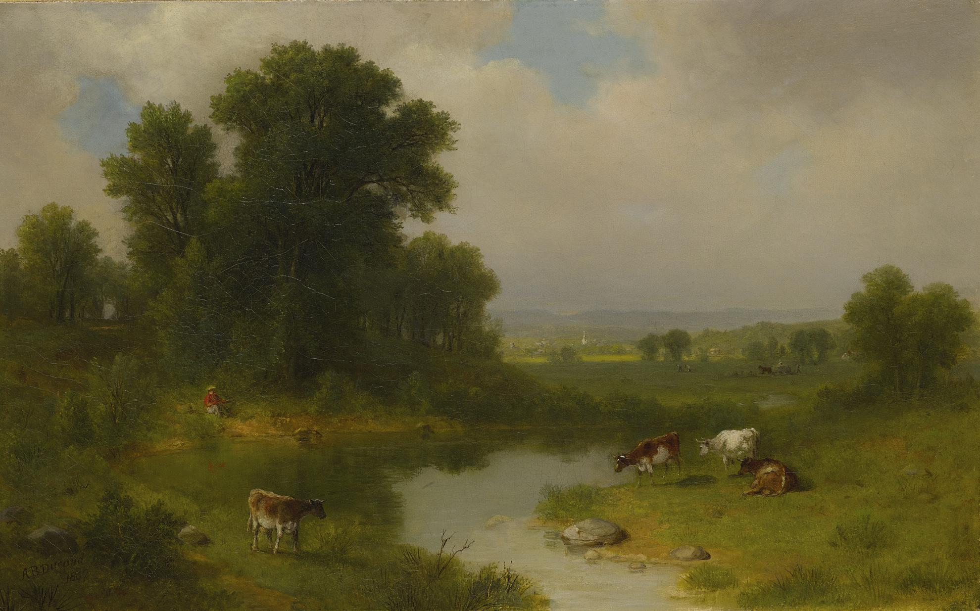 Asher Brown Durand - New Jersey Landscape-1867