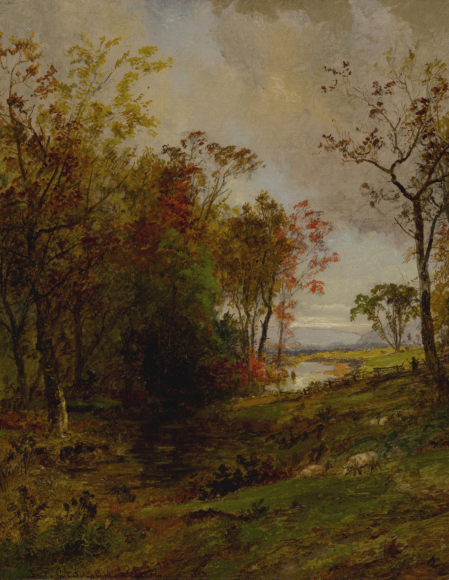 Jasper Francis Cropsey - Hudson Valley Landscape-1888