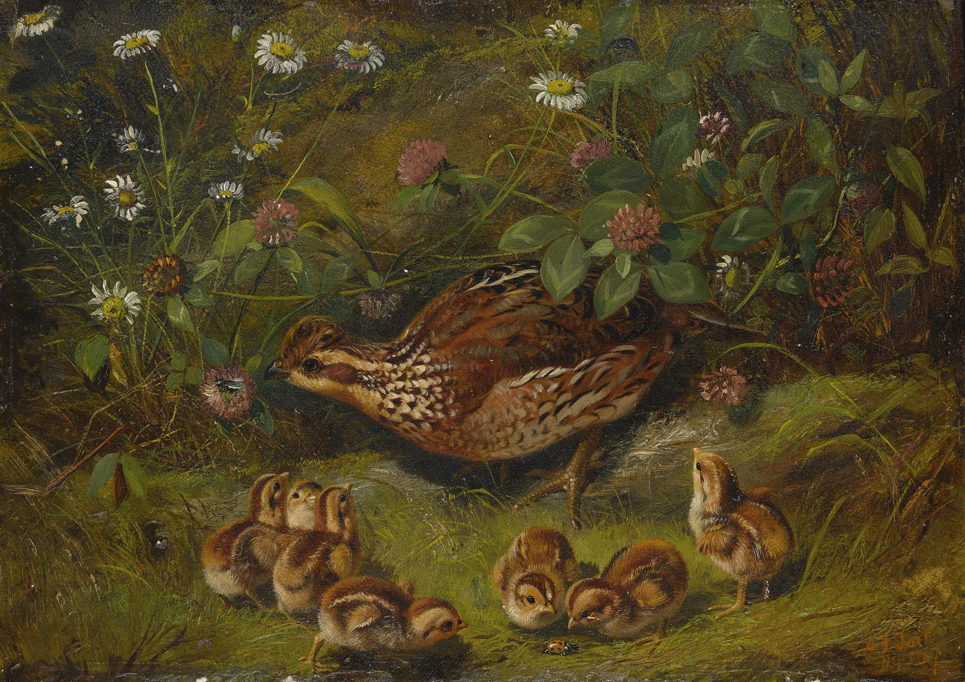 Arthur Fitzwilliam Tait - Quail-1867