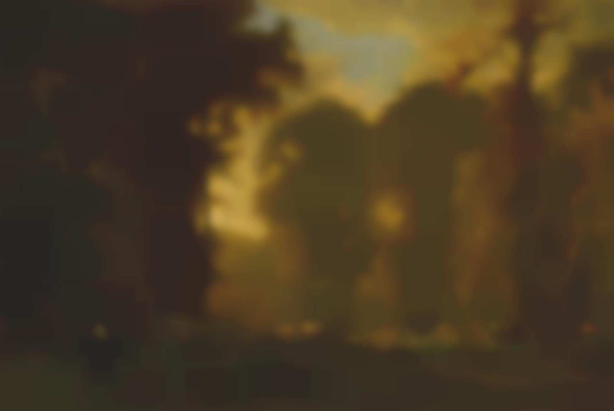 George Inness - Autumn Sunset-1869