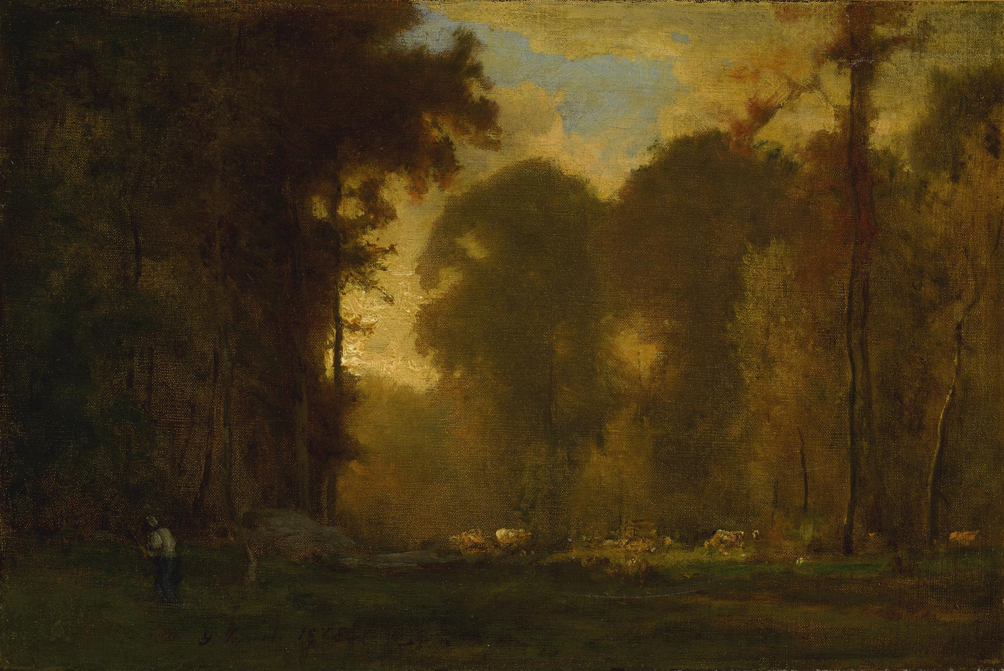 George Inness - Autumn Sunset-1869