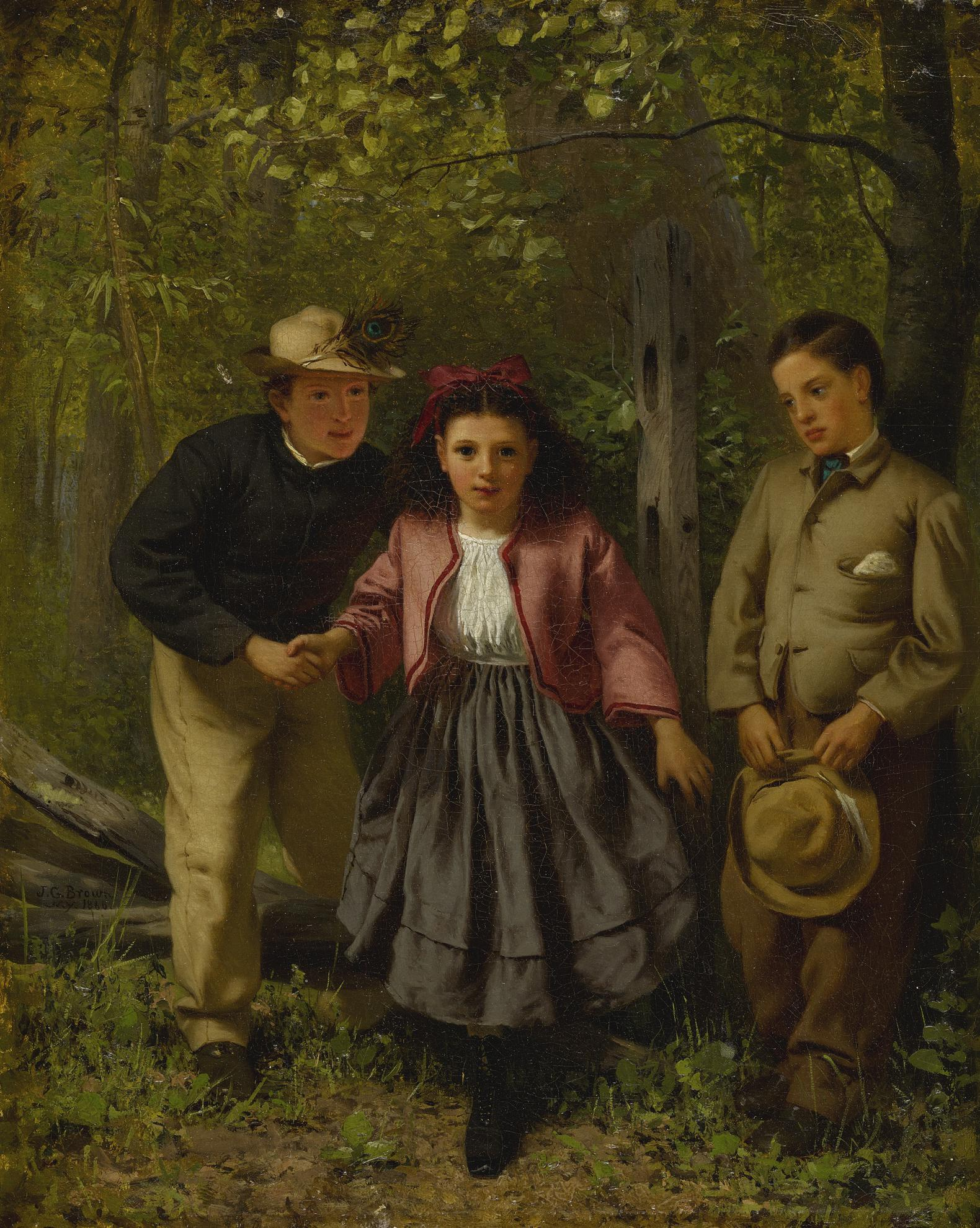 John George Brown - Children In The Forest-1866