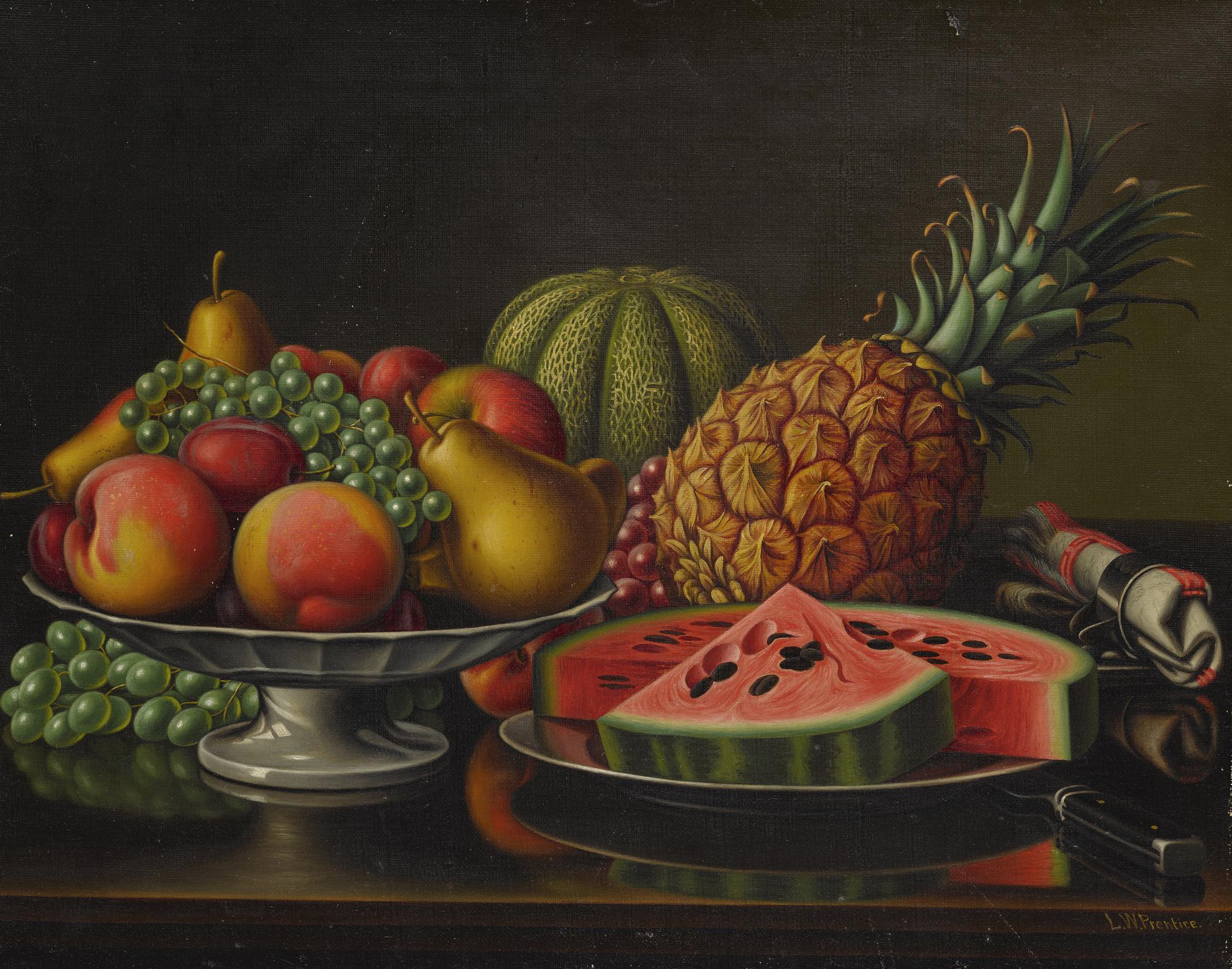Levi Wells Prentice - Still Life With Fruit-
