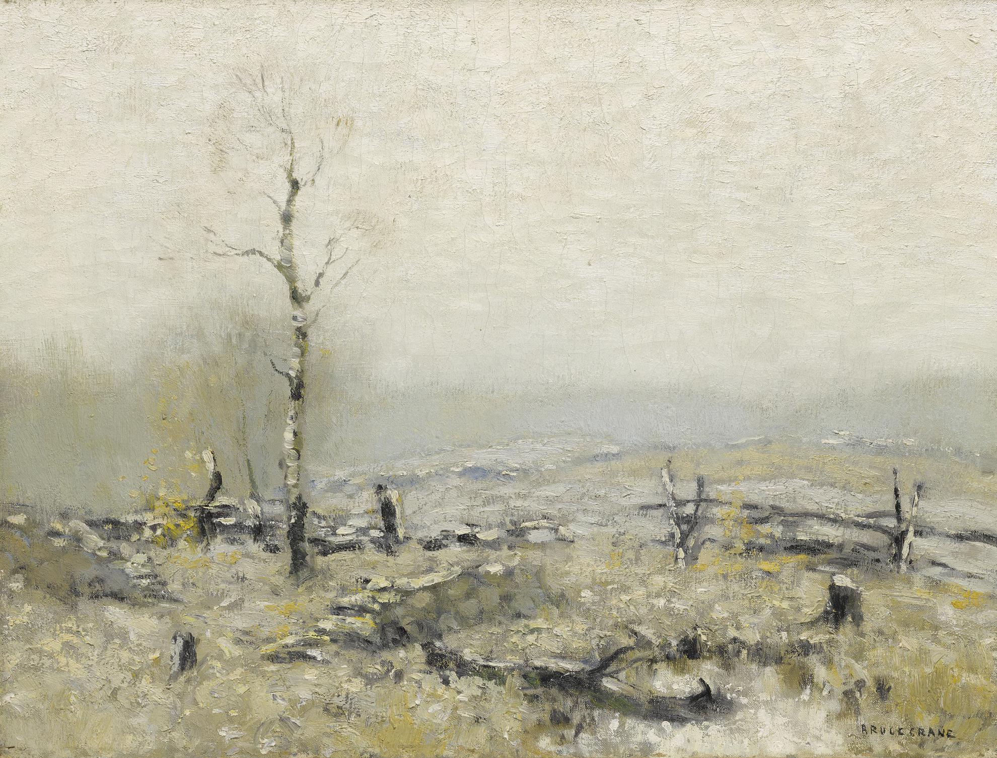Bruce Crane - Wintry Landscape-
