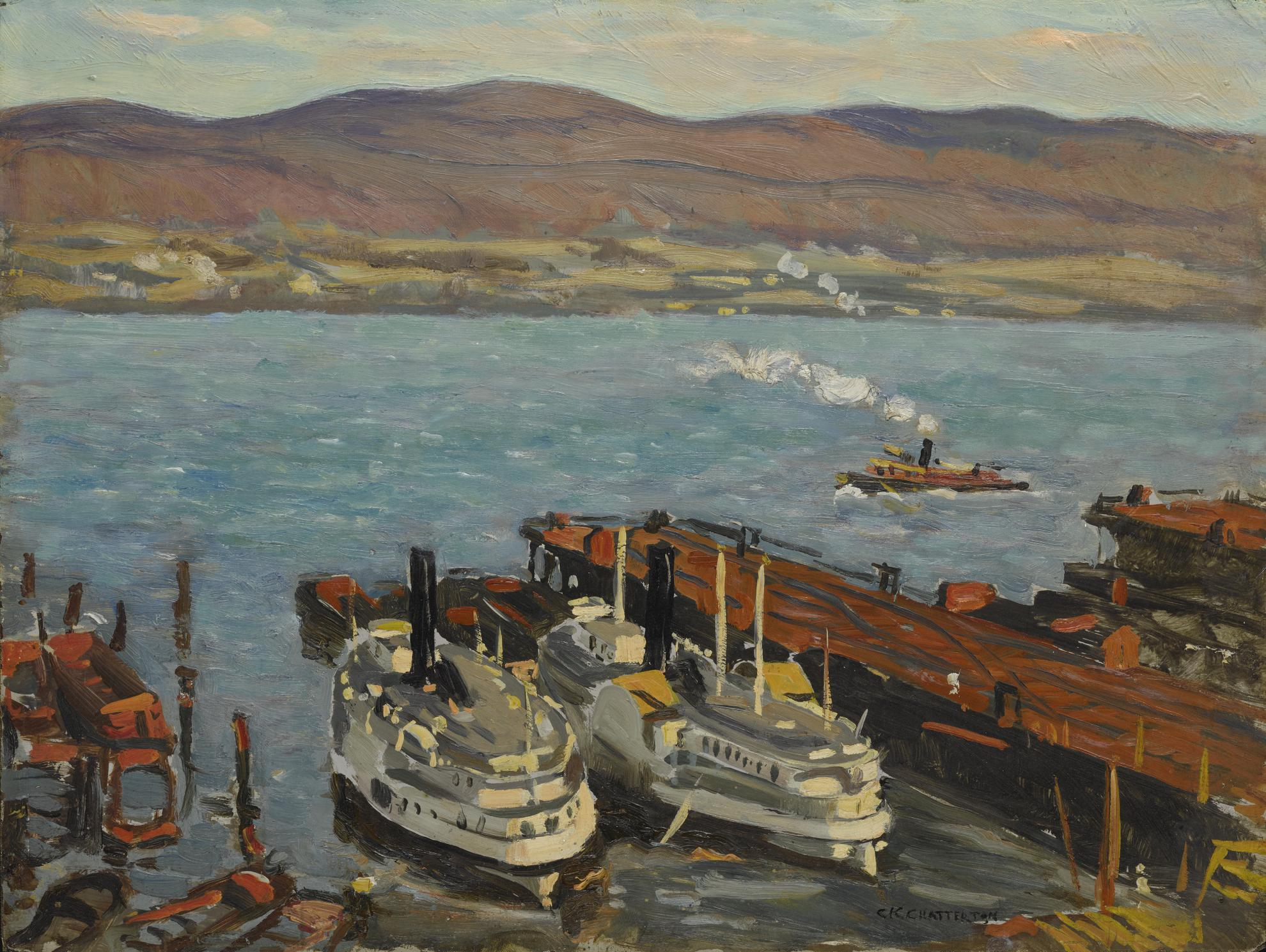 Clarence K. Chatterton - Hudson River Boats-