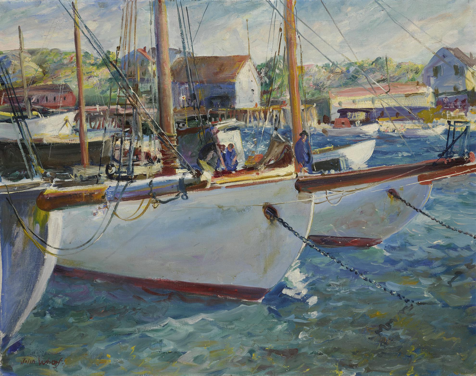 John Whorf - In The Harbor-