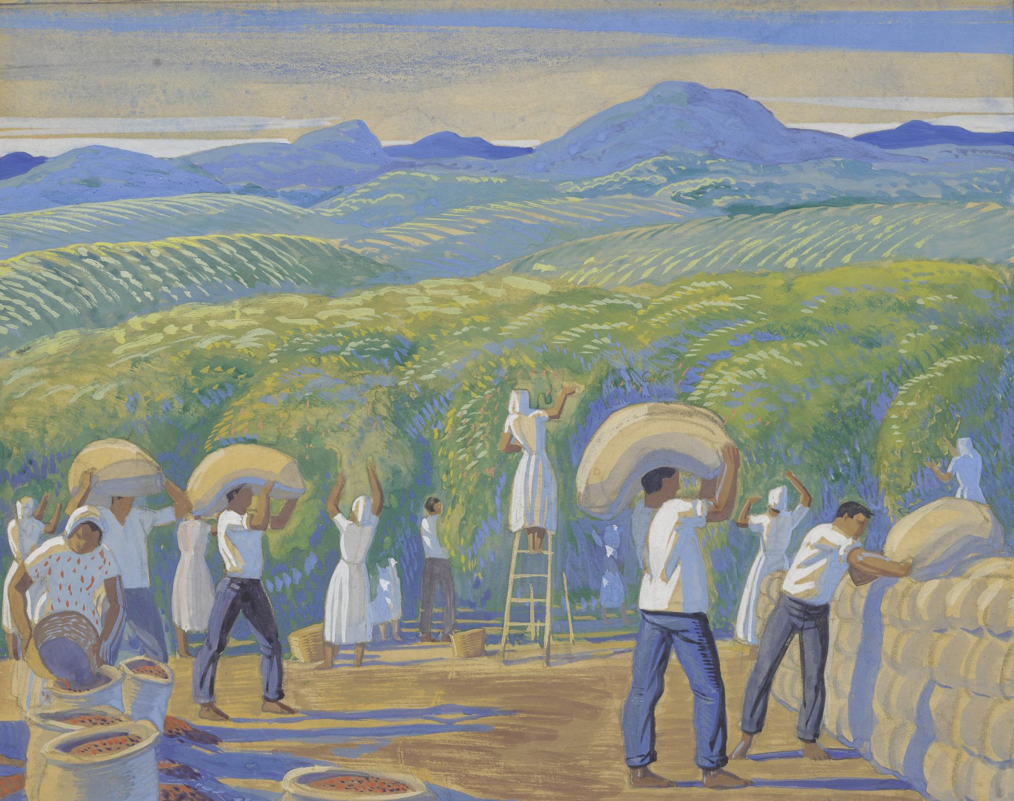 Rockwell Kent-Plantation In Sao Paolo (Harvesting Coffee)-1945