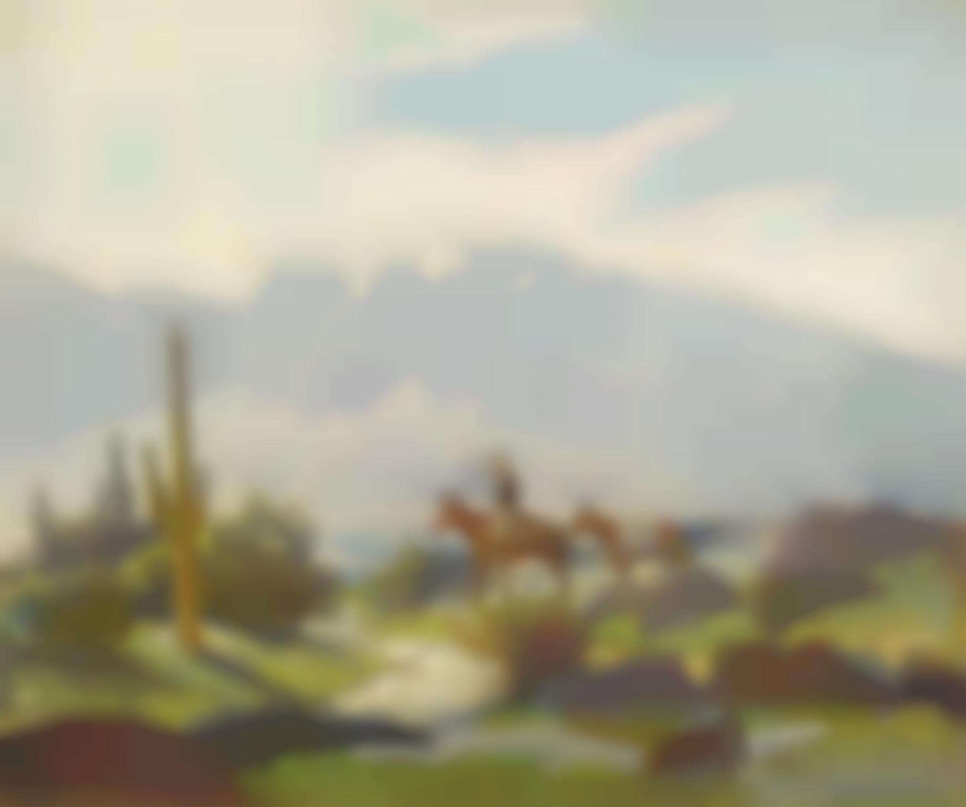 Jack Wilkinson Smith - Horseback With Cactus-
